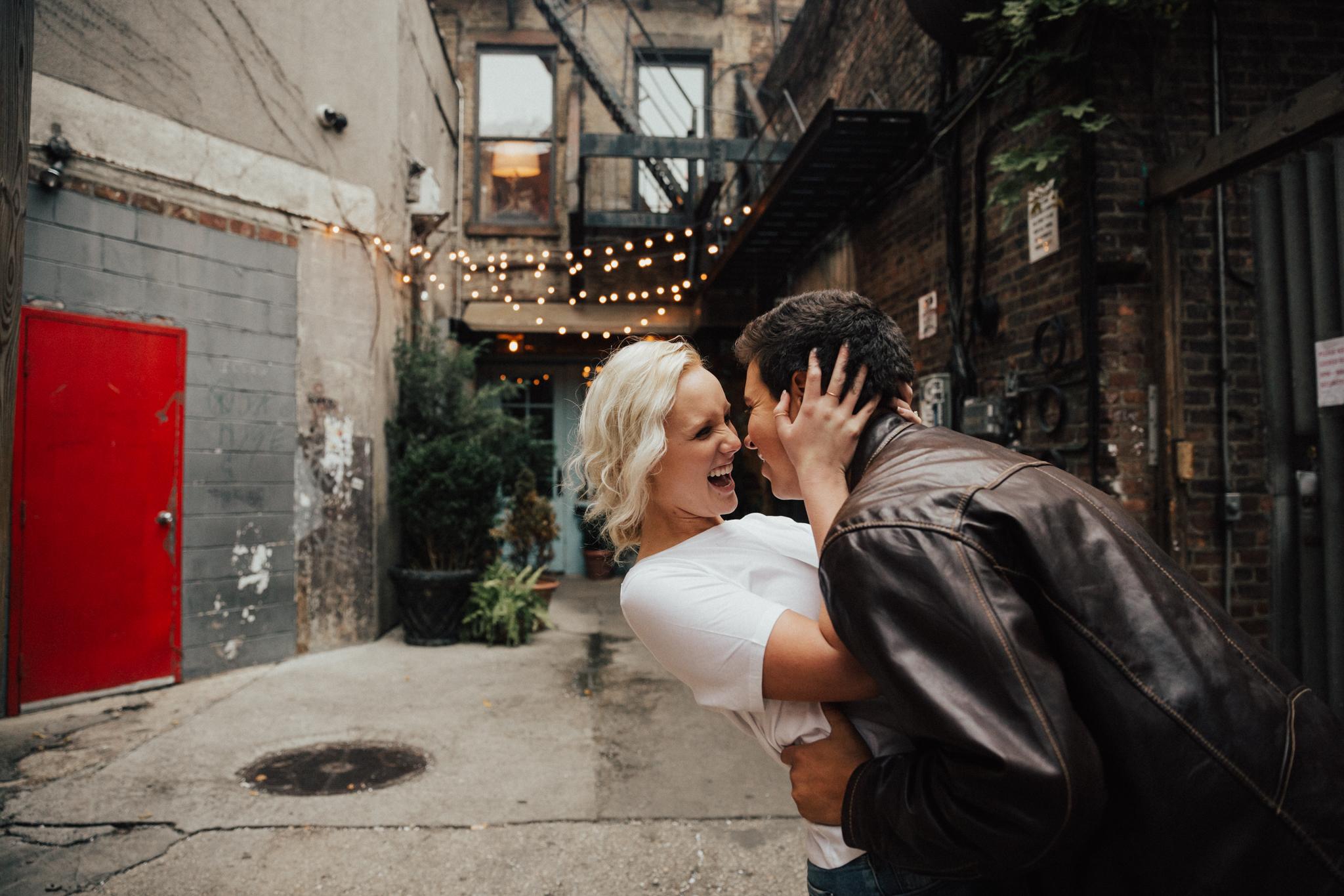 freemans alley engagement shoot