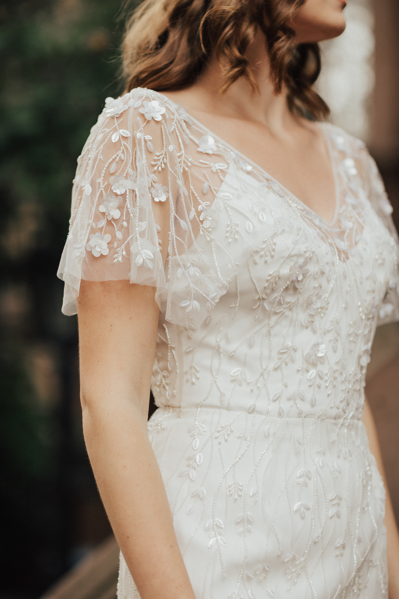 lace boho wedding dress