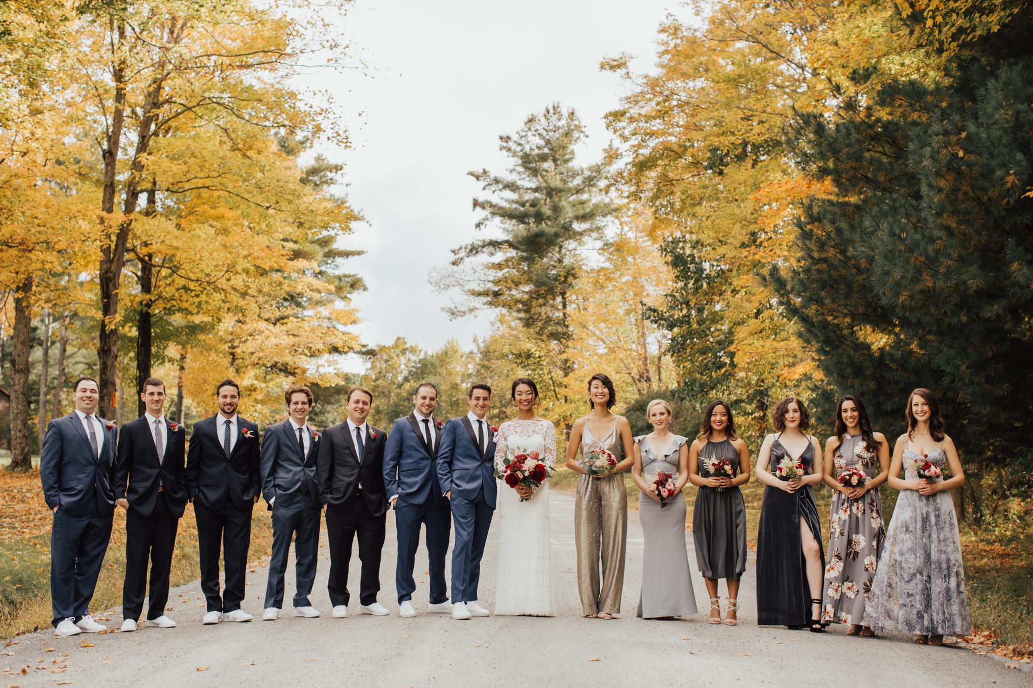 fall upstate new york wedding