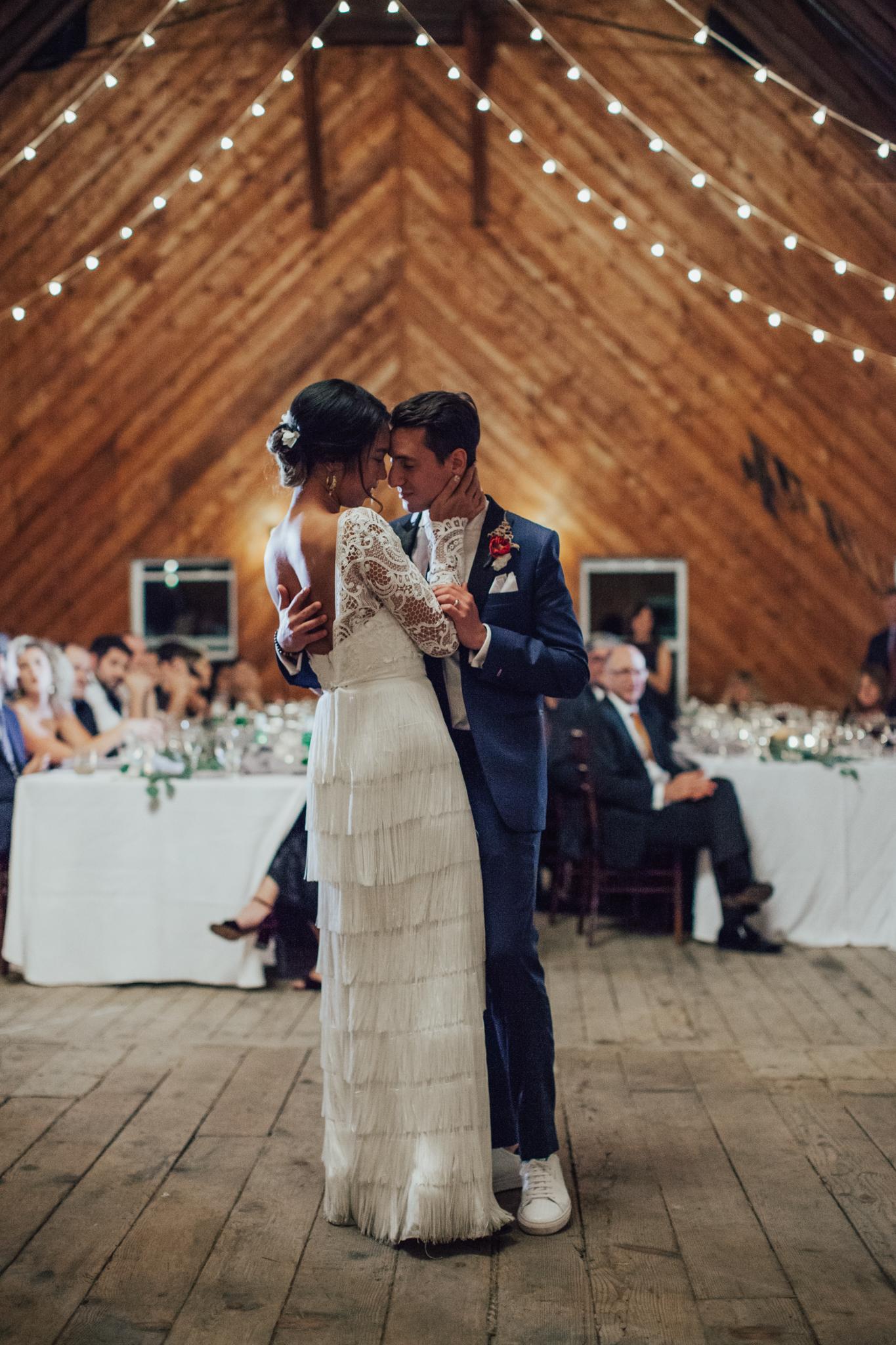 first dance in a barn