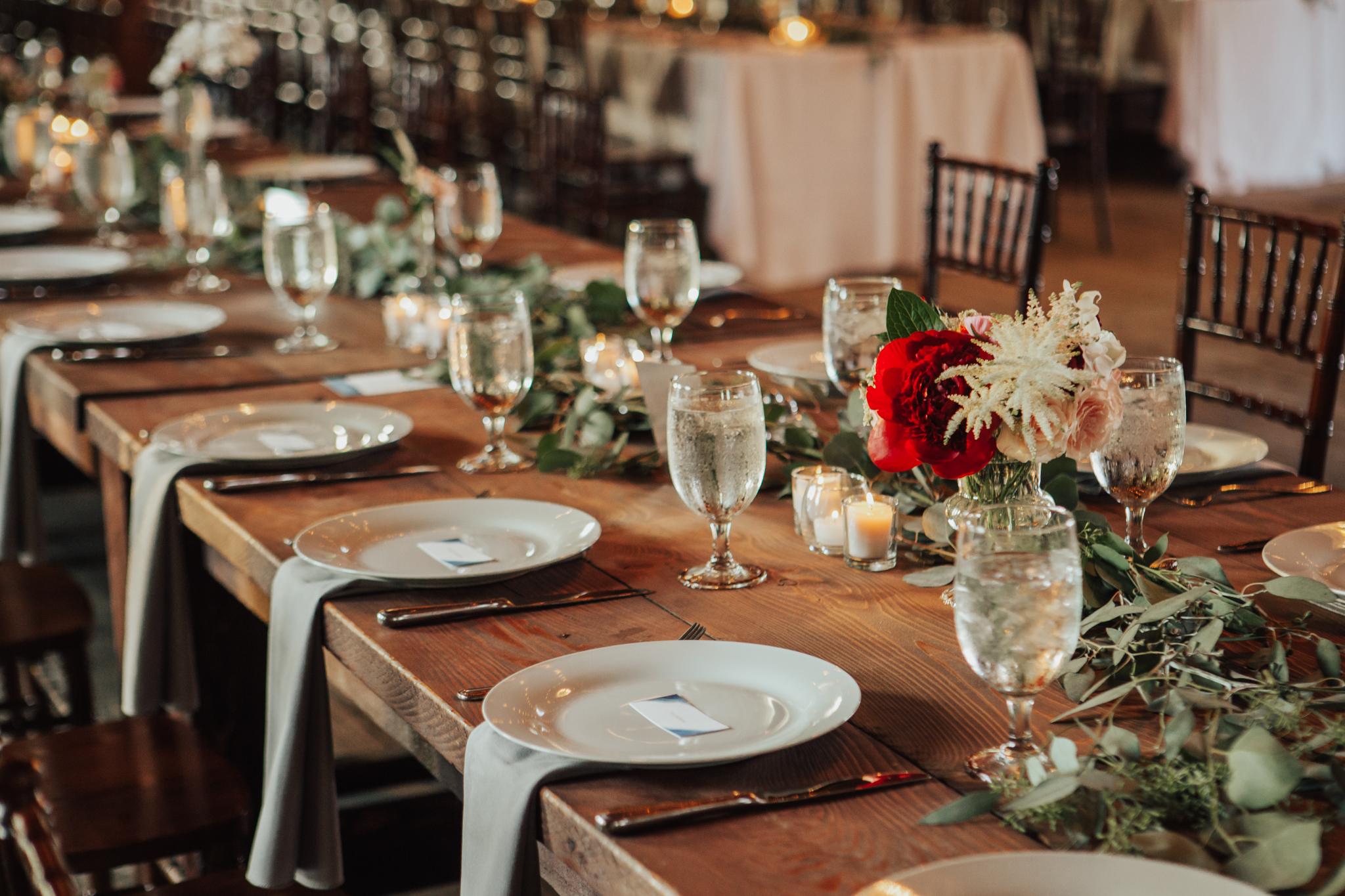 romantic boho table decor