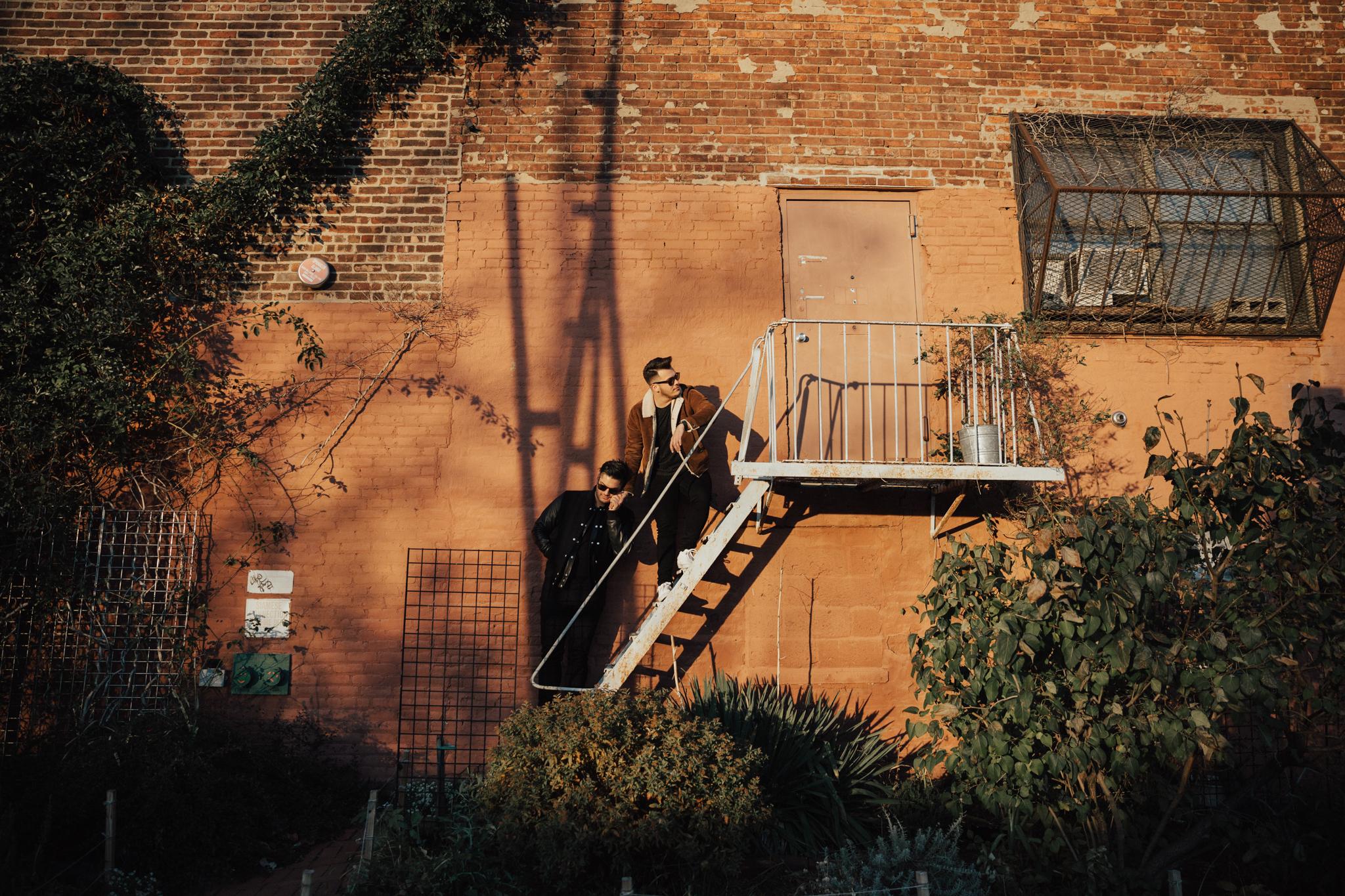 fire escape engagement photos