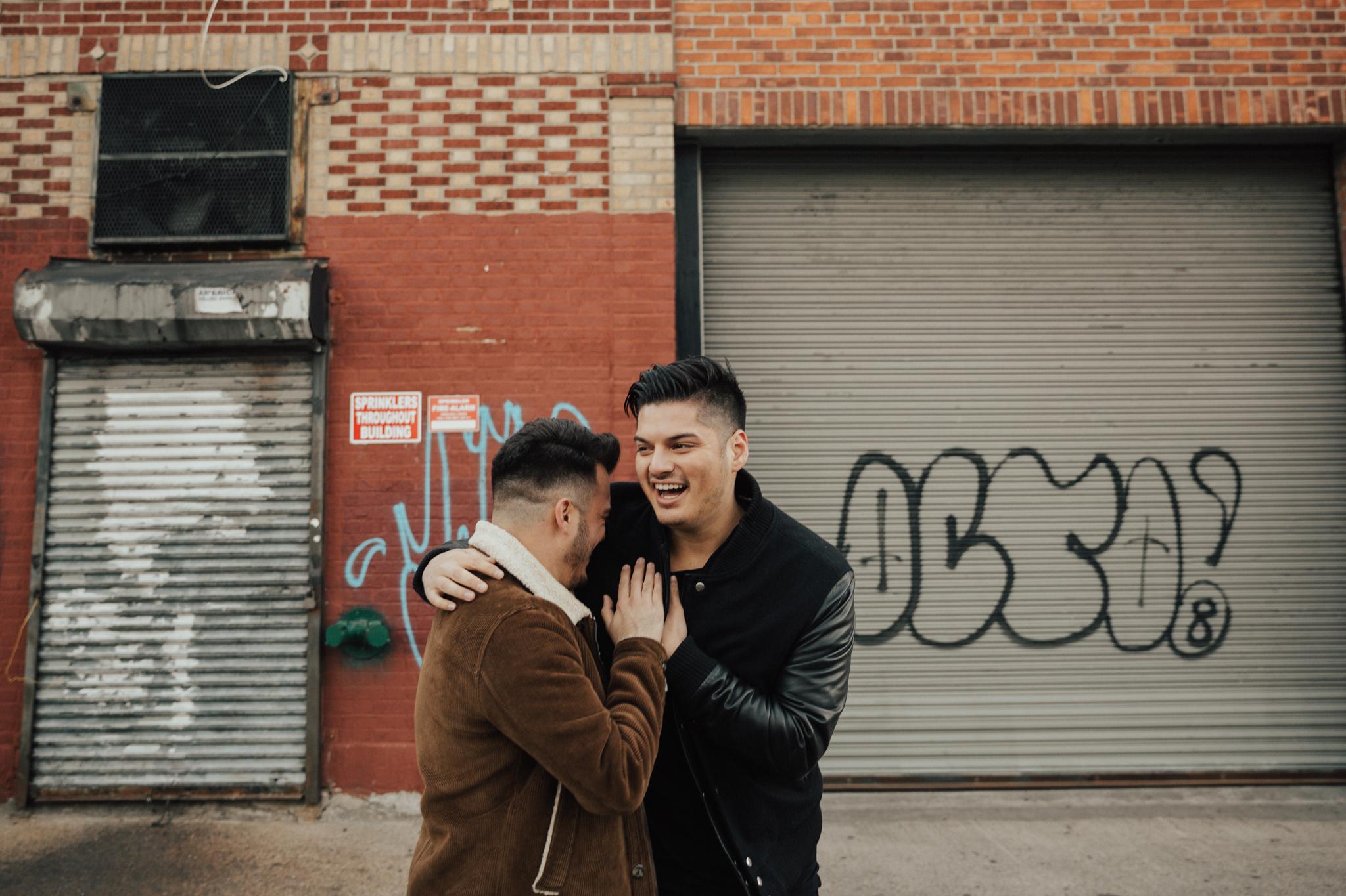 happy couple brooklyn