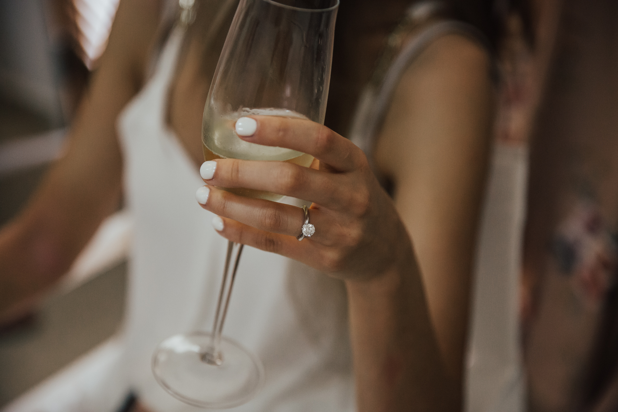 girl with engagement ring