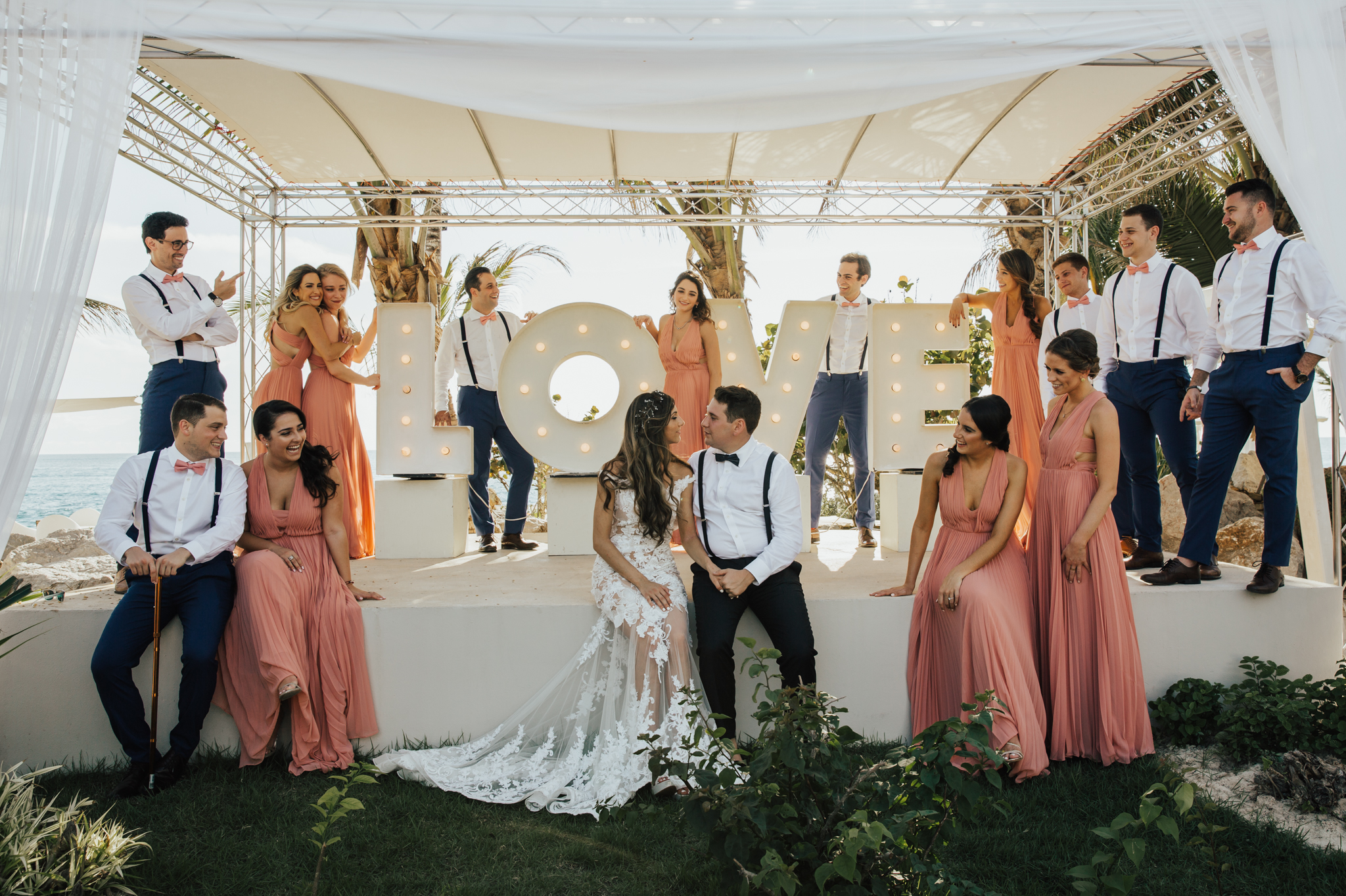marquee love sign wedding