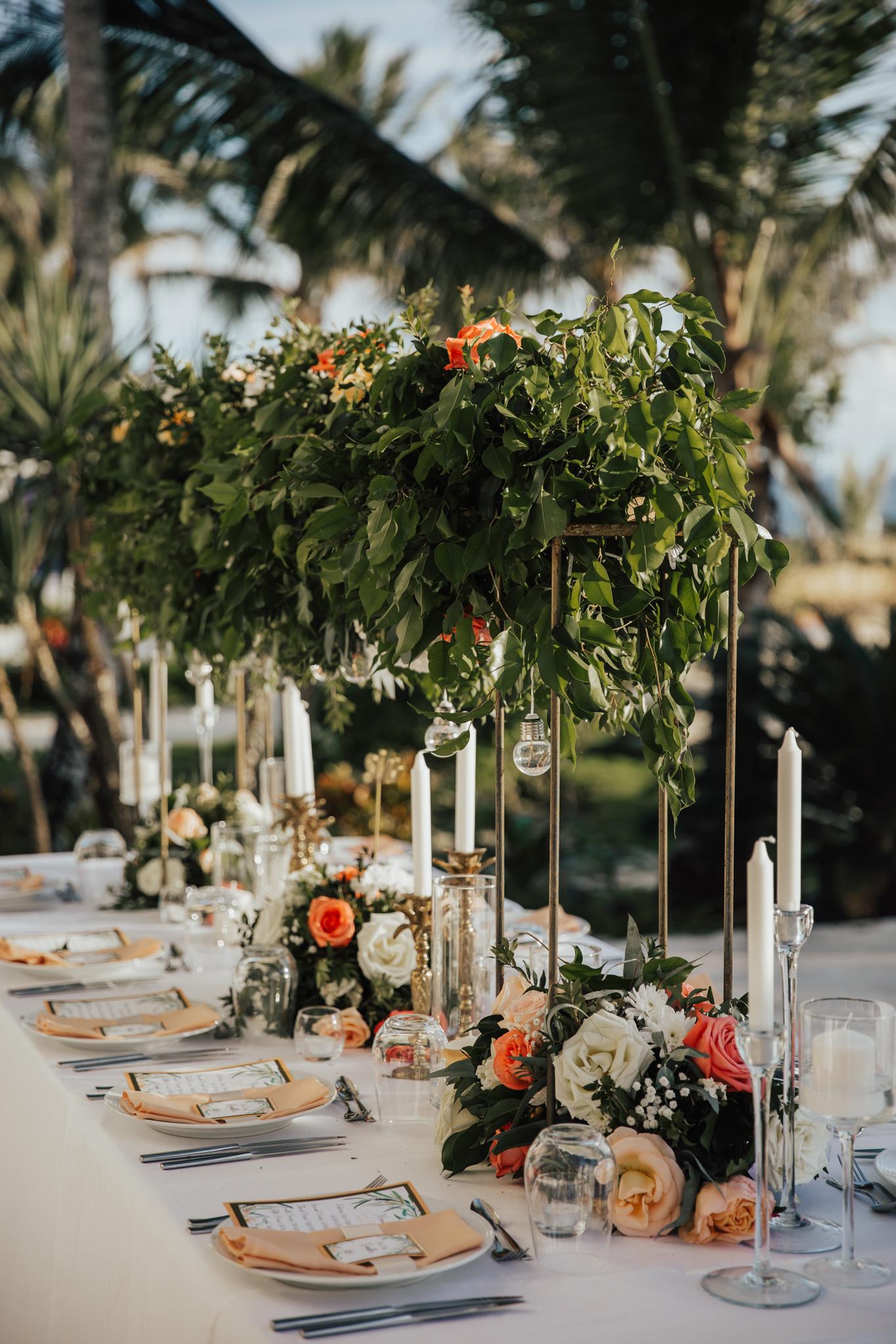 tropical glamour wedding