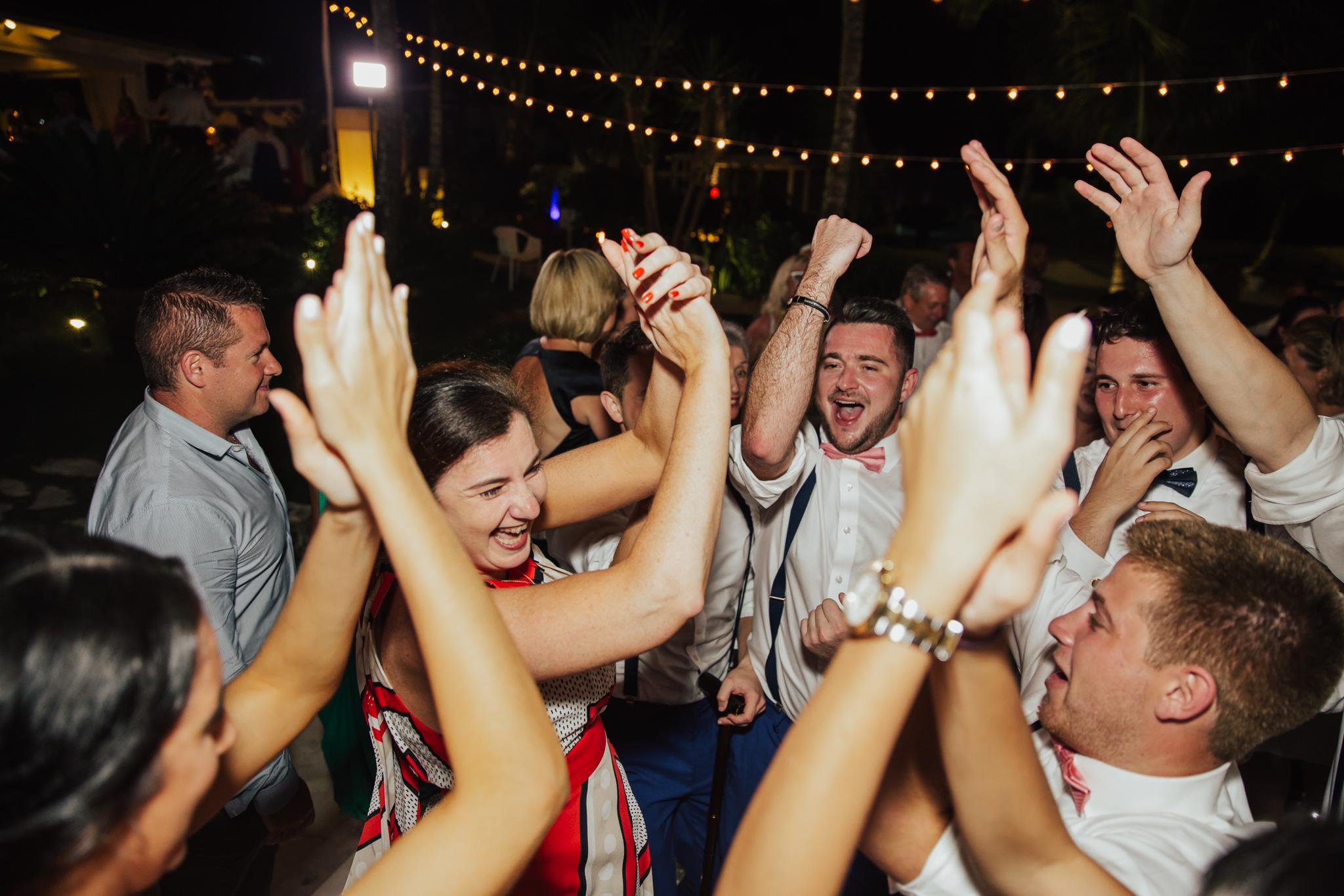 fun dancing shots wedding