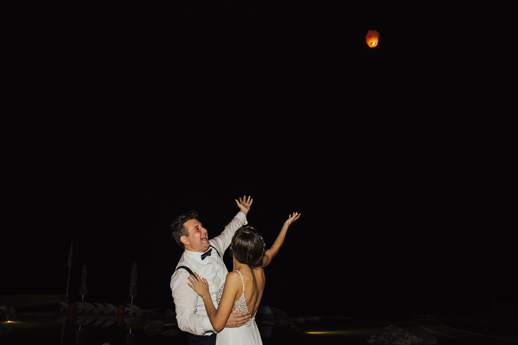 bride and groom chinese lantern