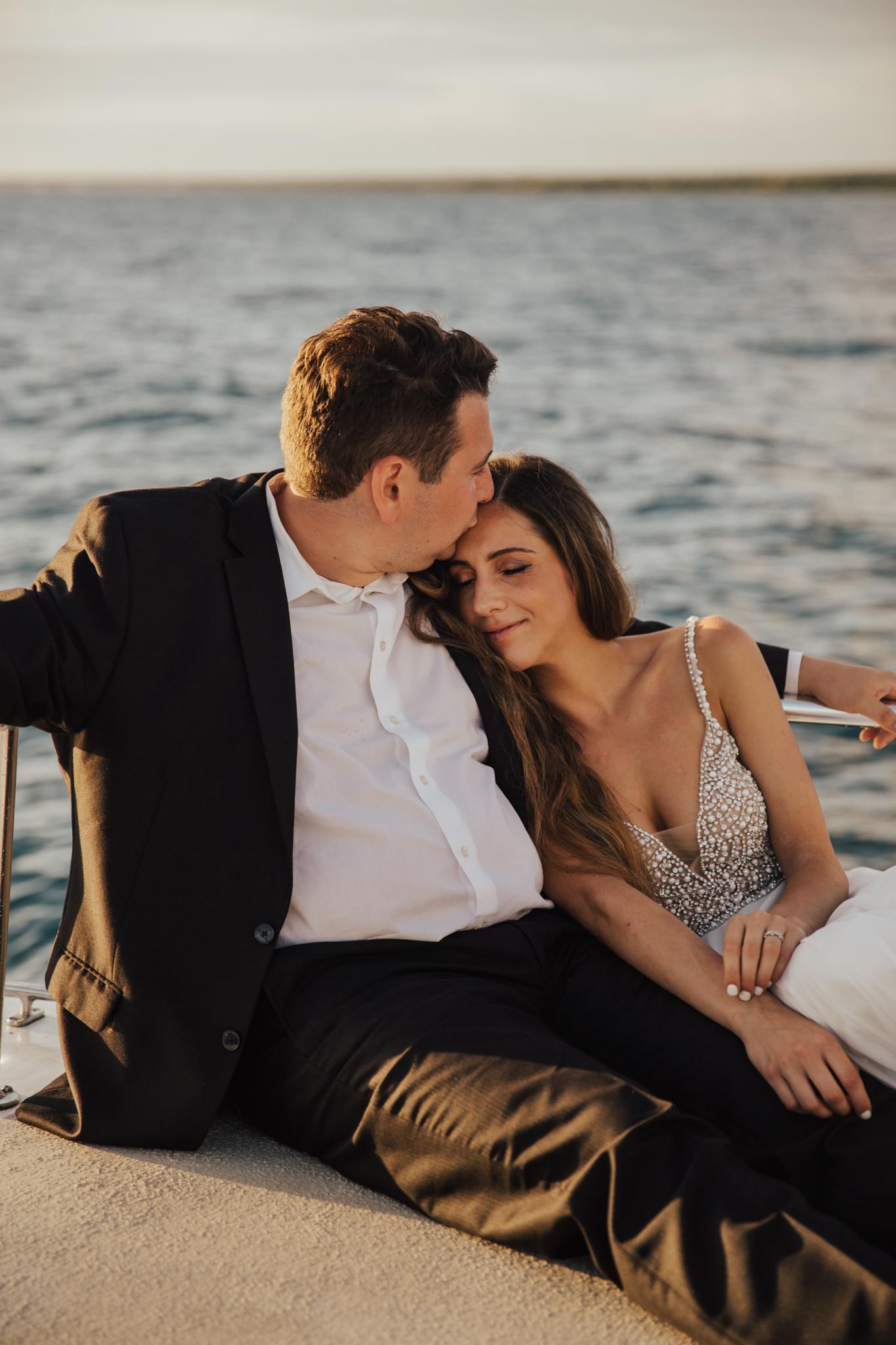 intimate boat wedding