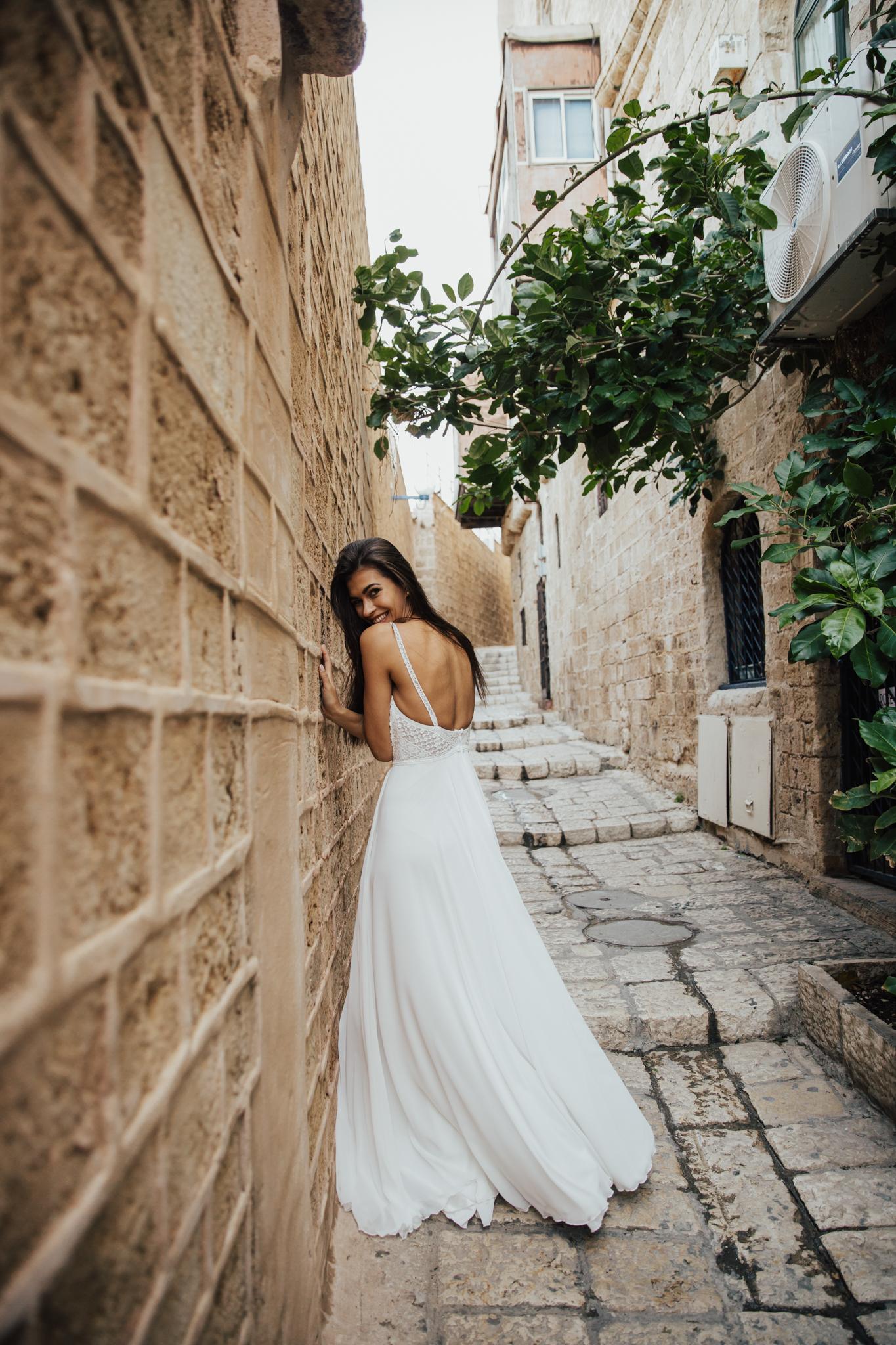 happy boho bride