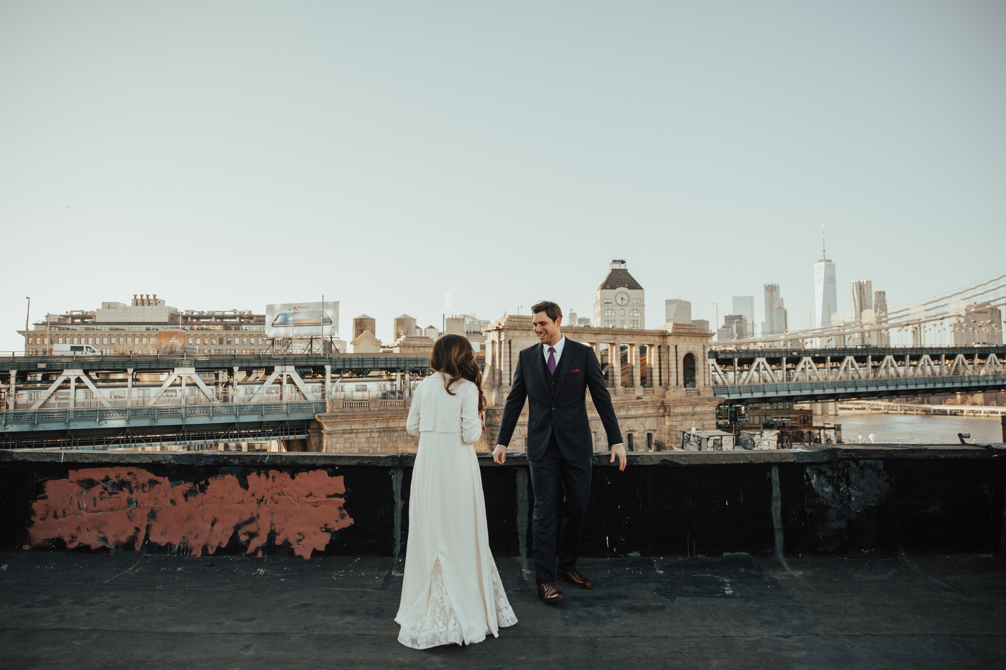 first look on rooftop