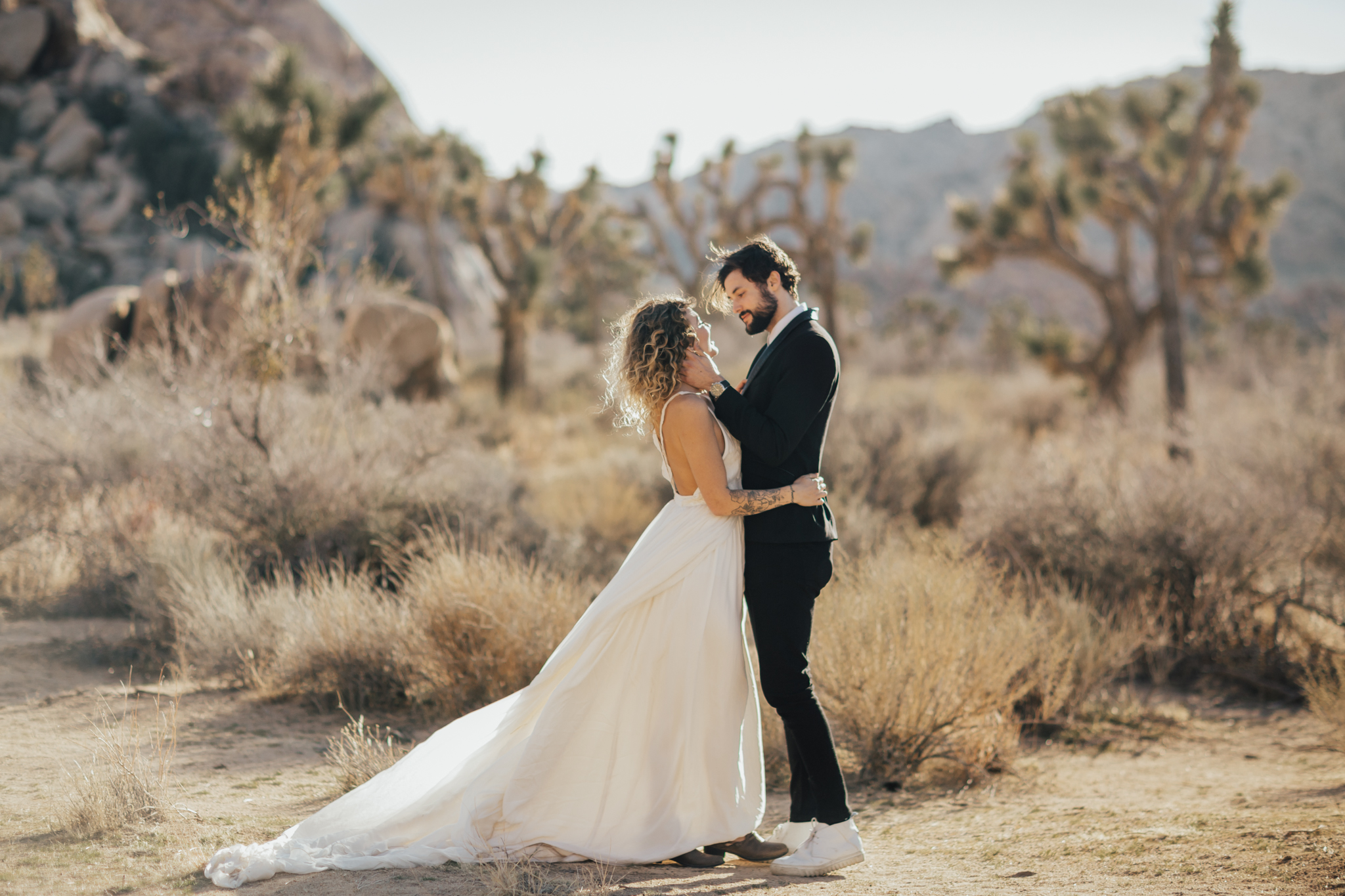 Intimate wedding photography desert