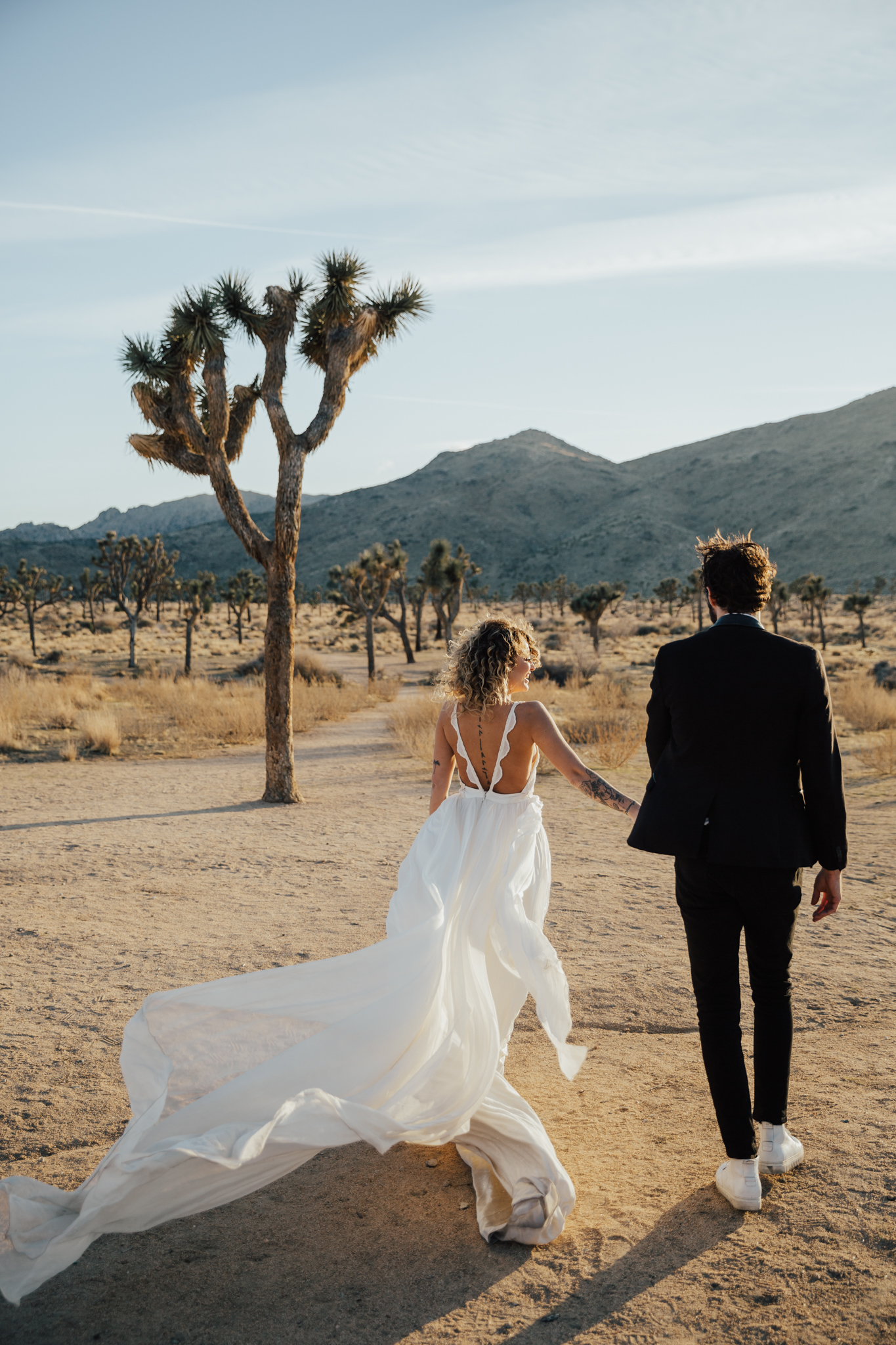 flowy dress desert wedding