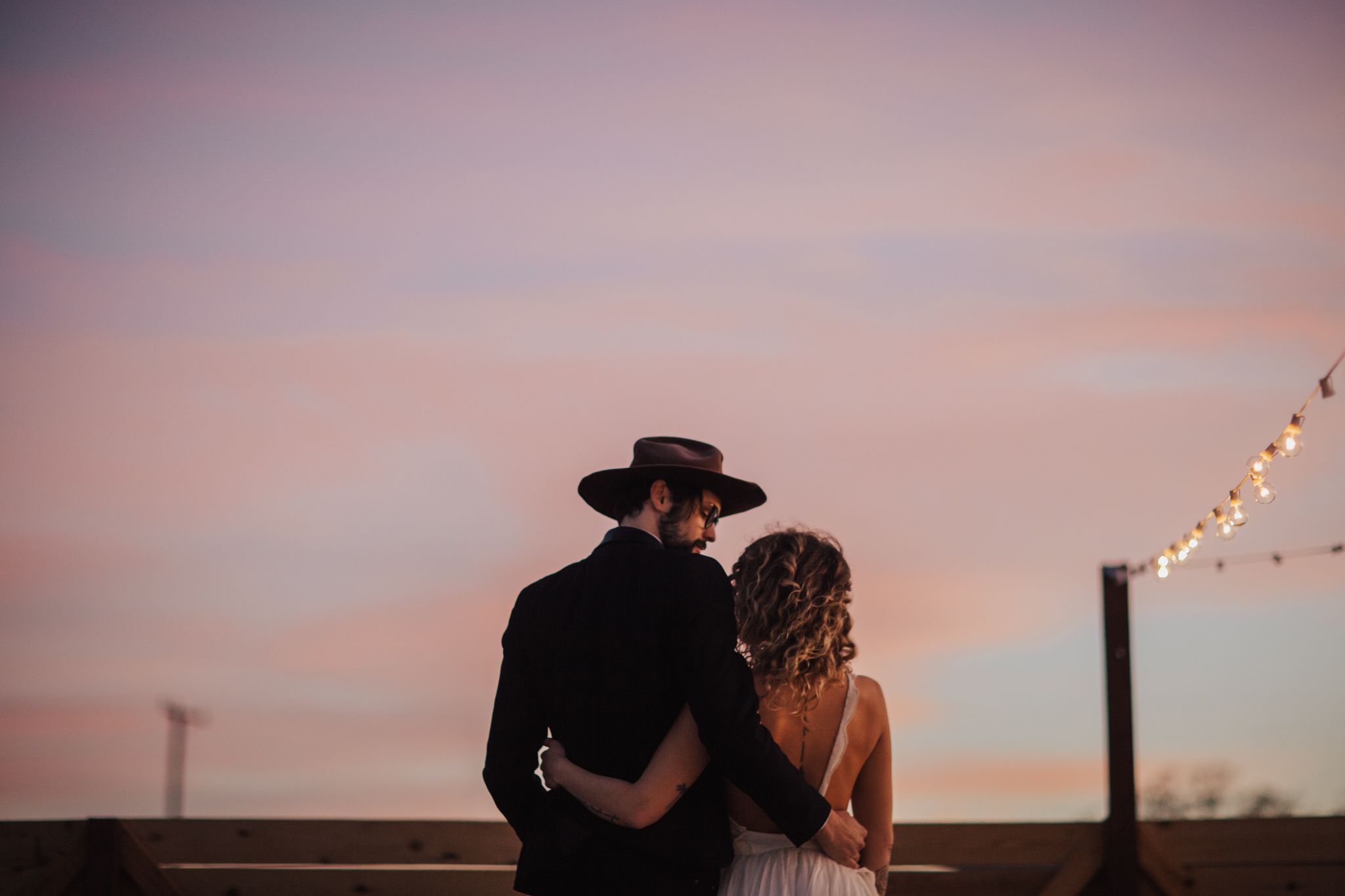 First dance during sunset