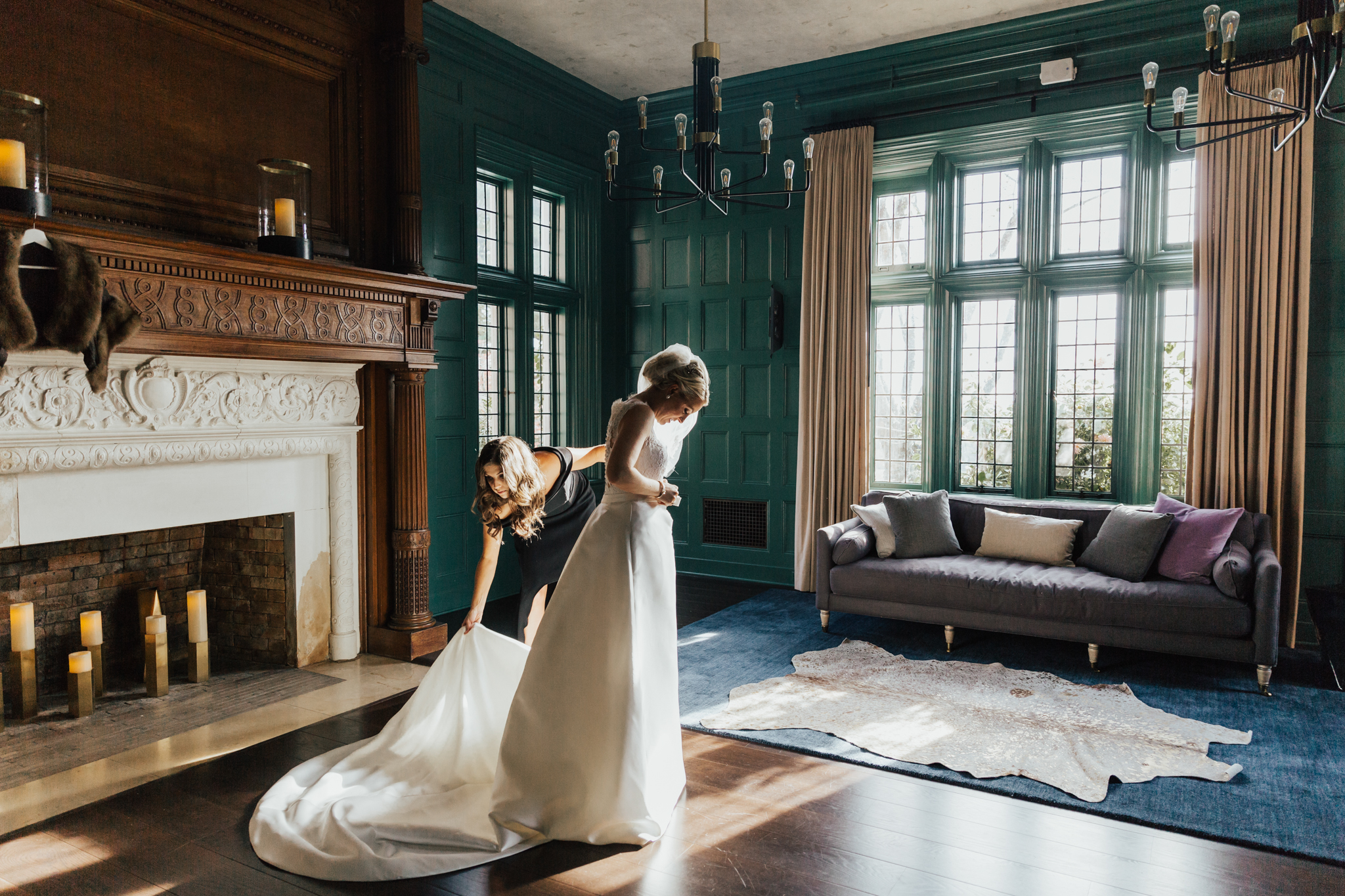 autumn wedding natirar mansion
