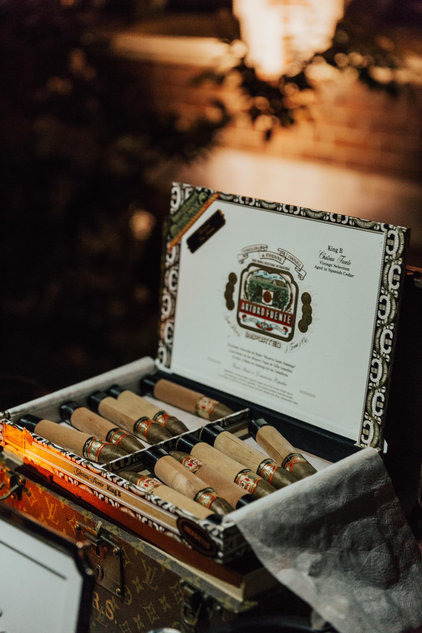 cigar station wedding