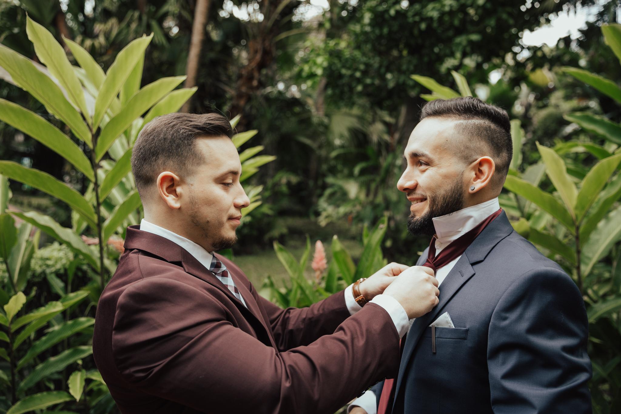 best man groom prep