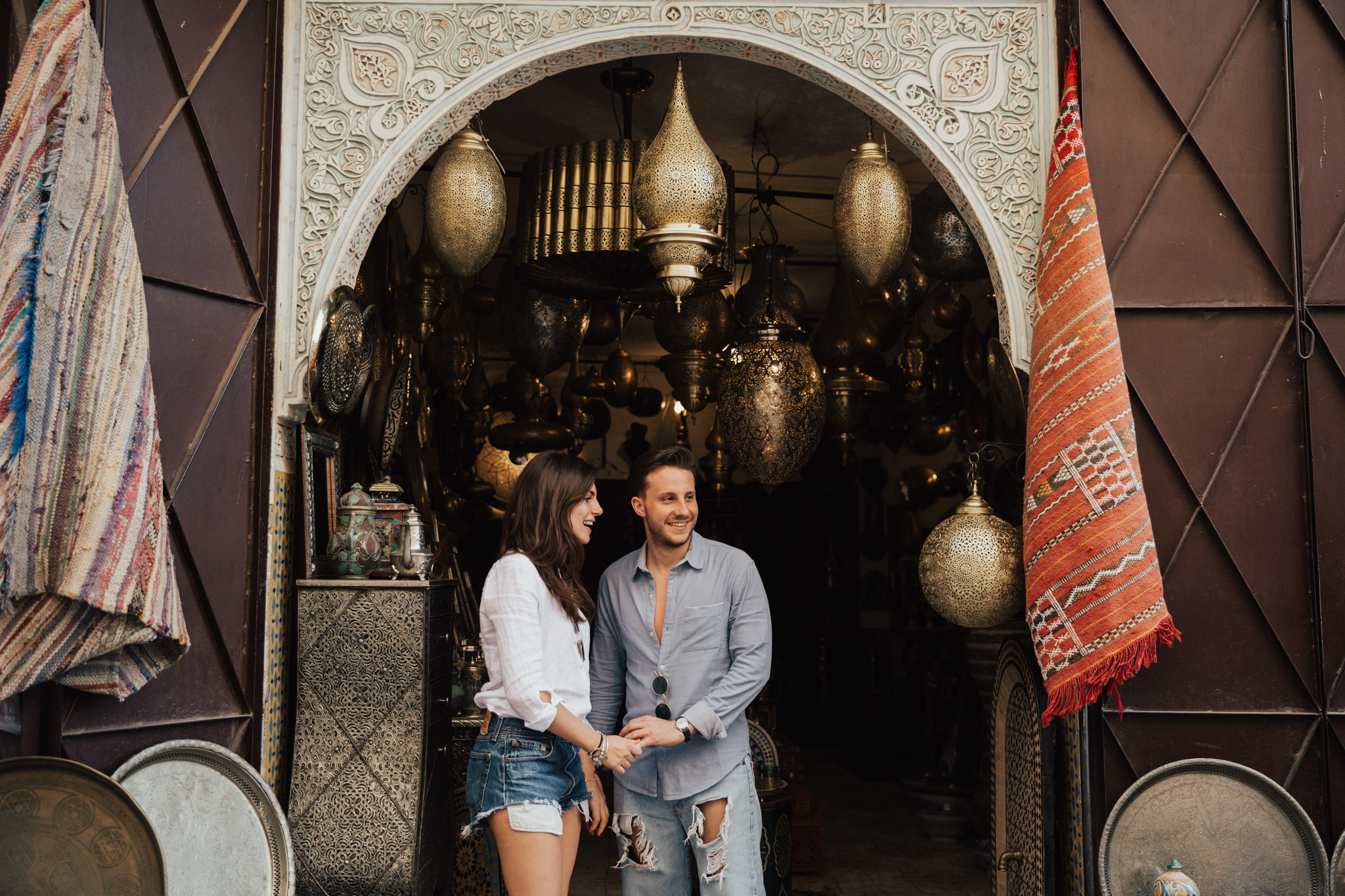 engagement session in Morocco