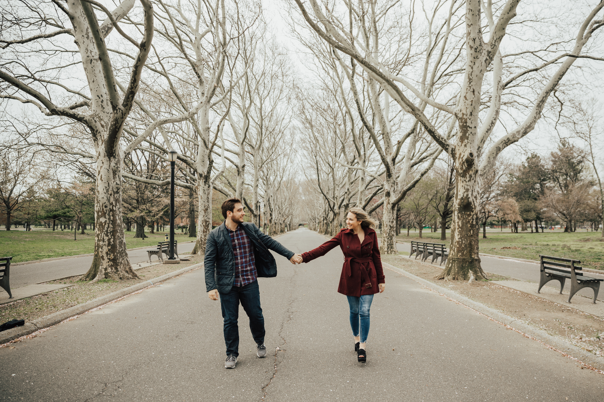 flushing meadows engagement photos