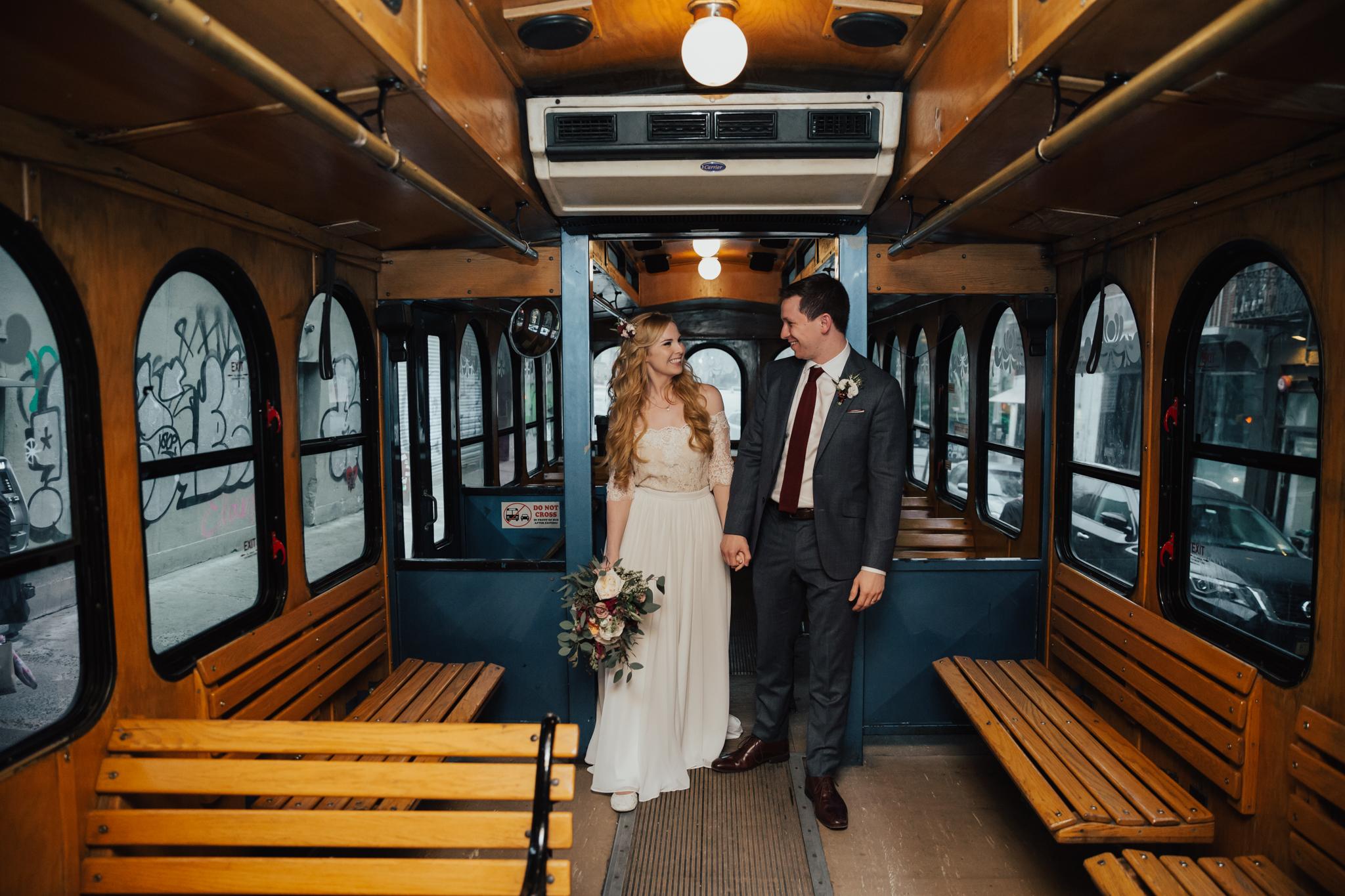 nyc wedding trolley