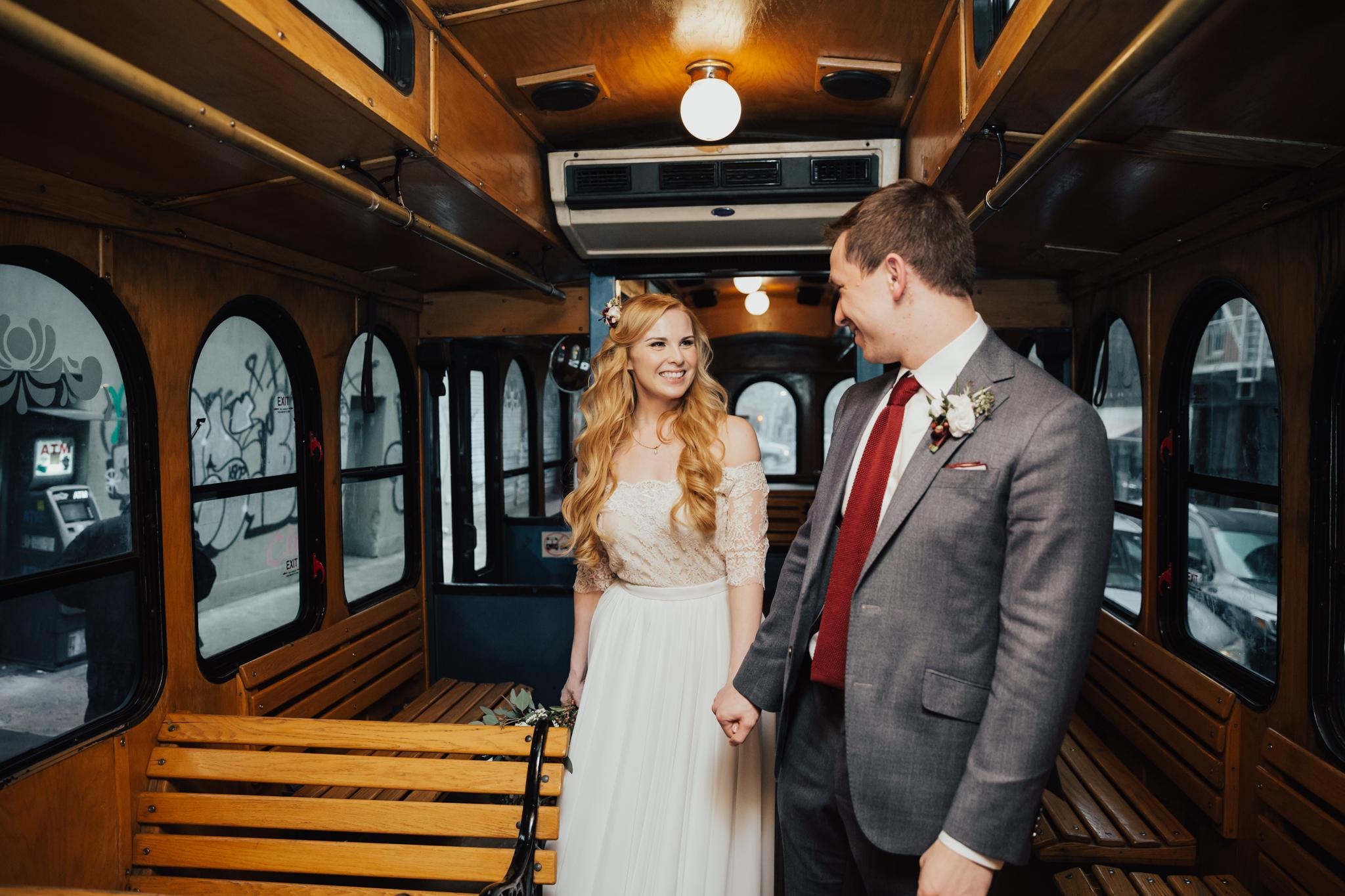 nyc trolley wedding