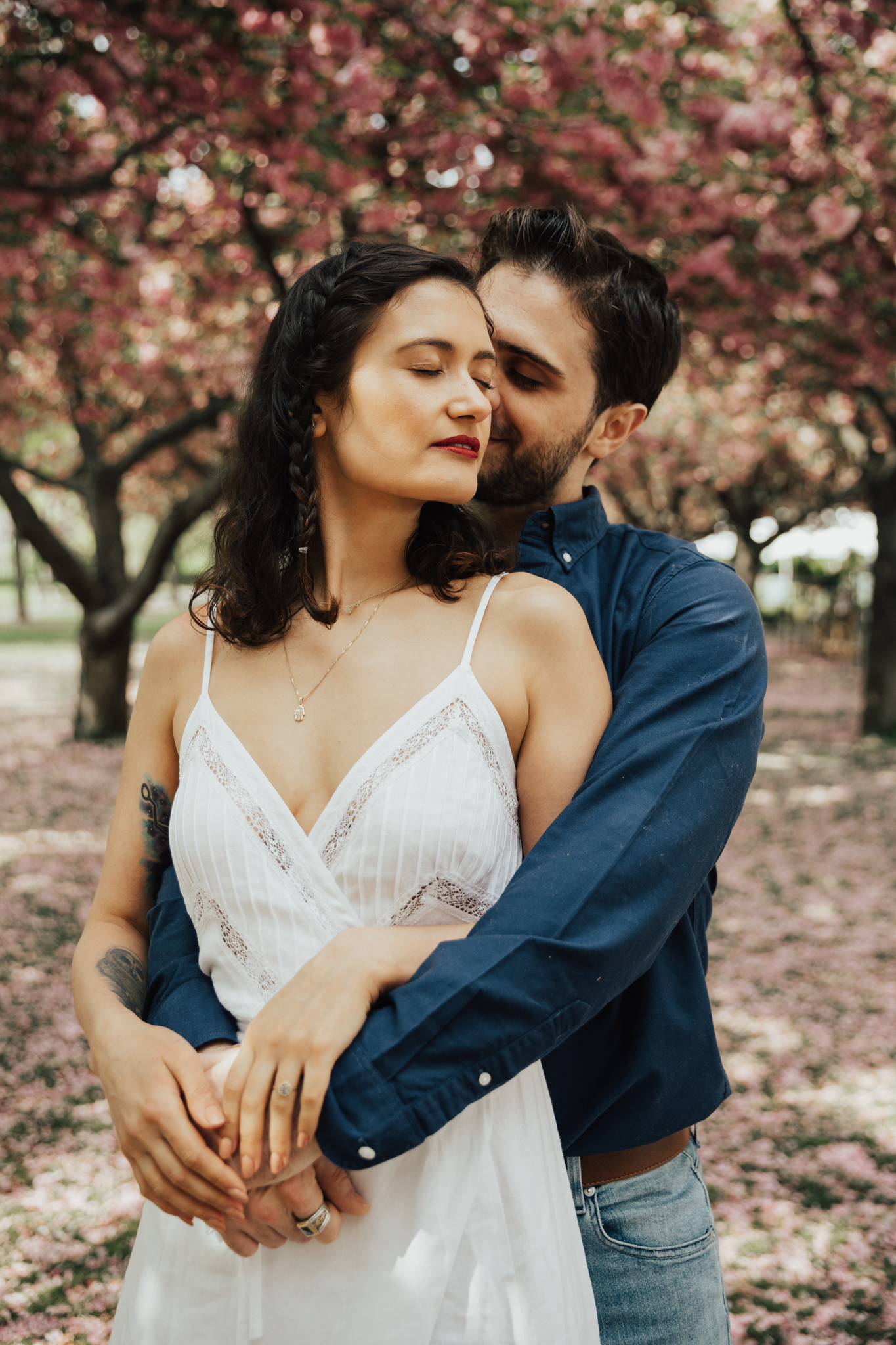 intimate engagement shoot nyc