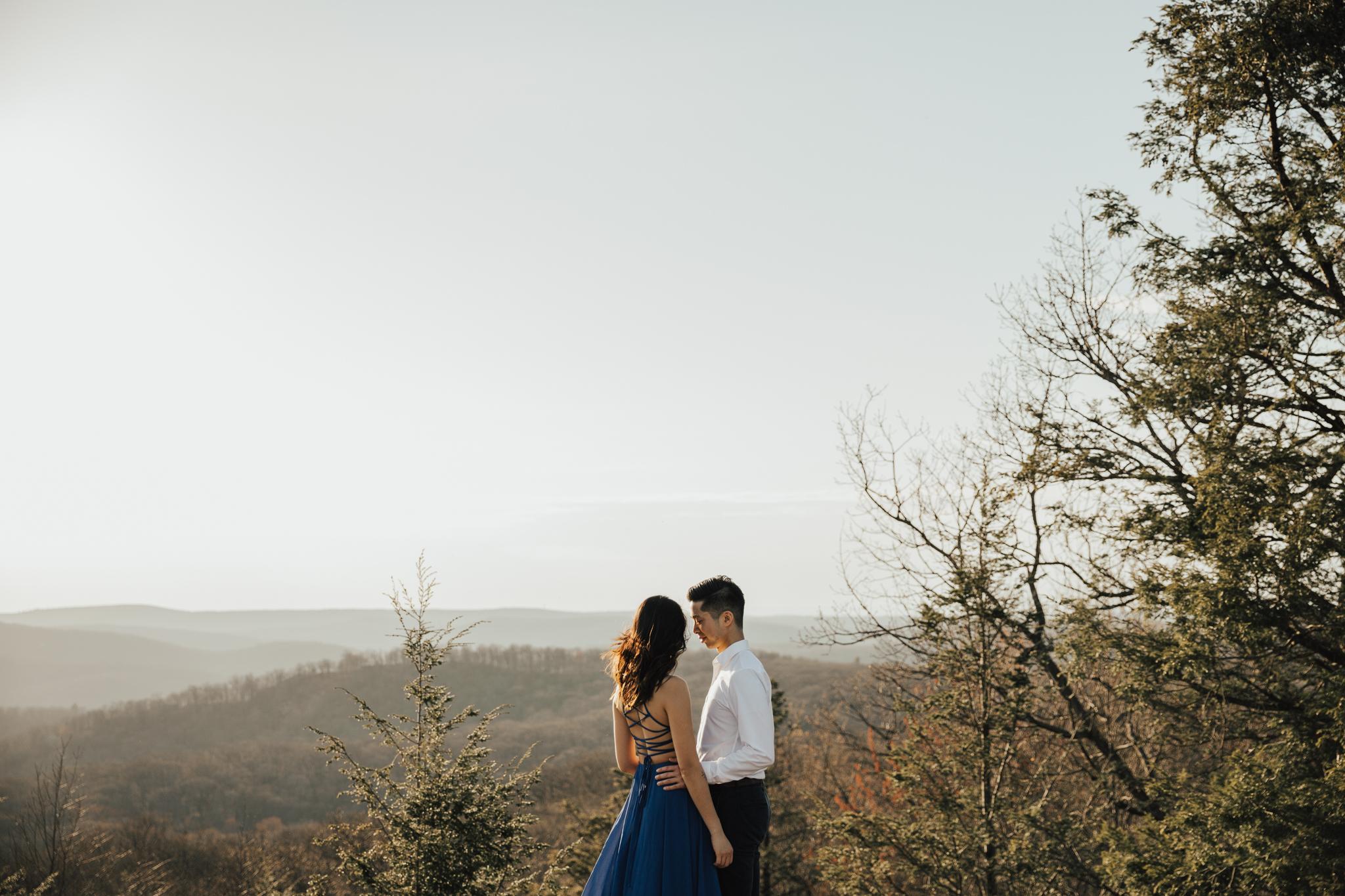Adventurous intimate new york elopement
