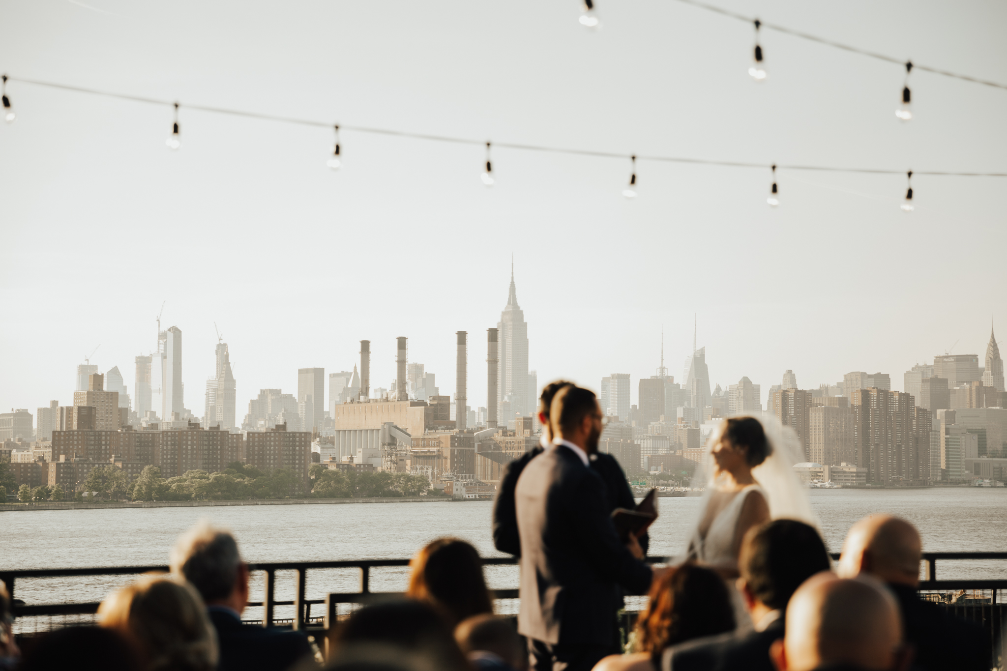 brooklyn rooftop intimate wedding