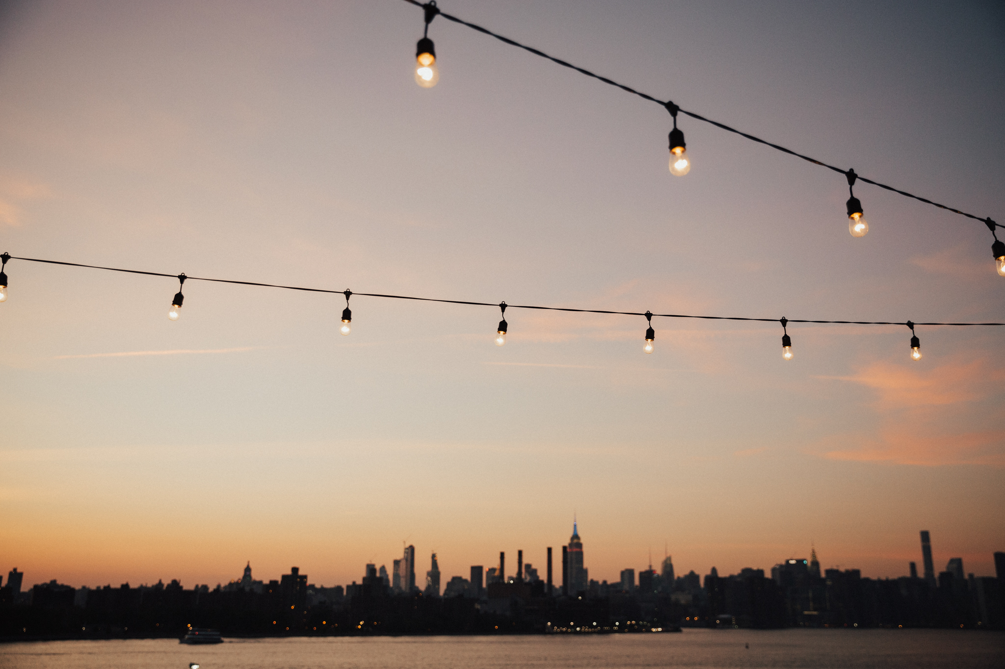 nyc rooftop sunset