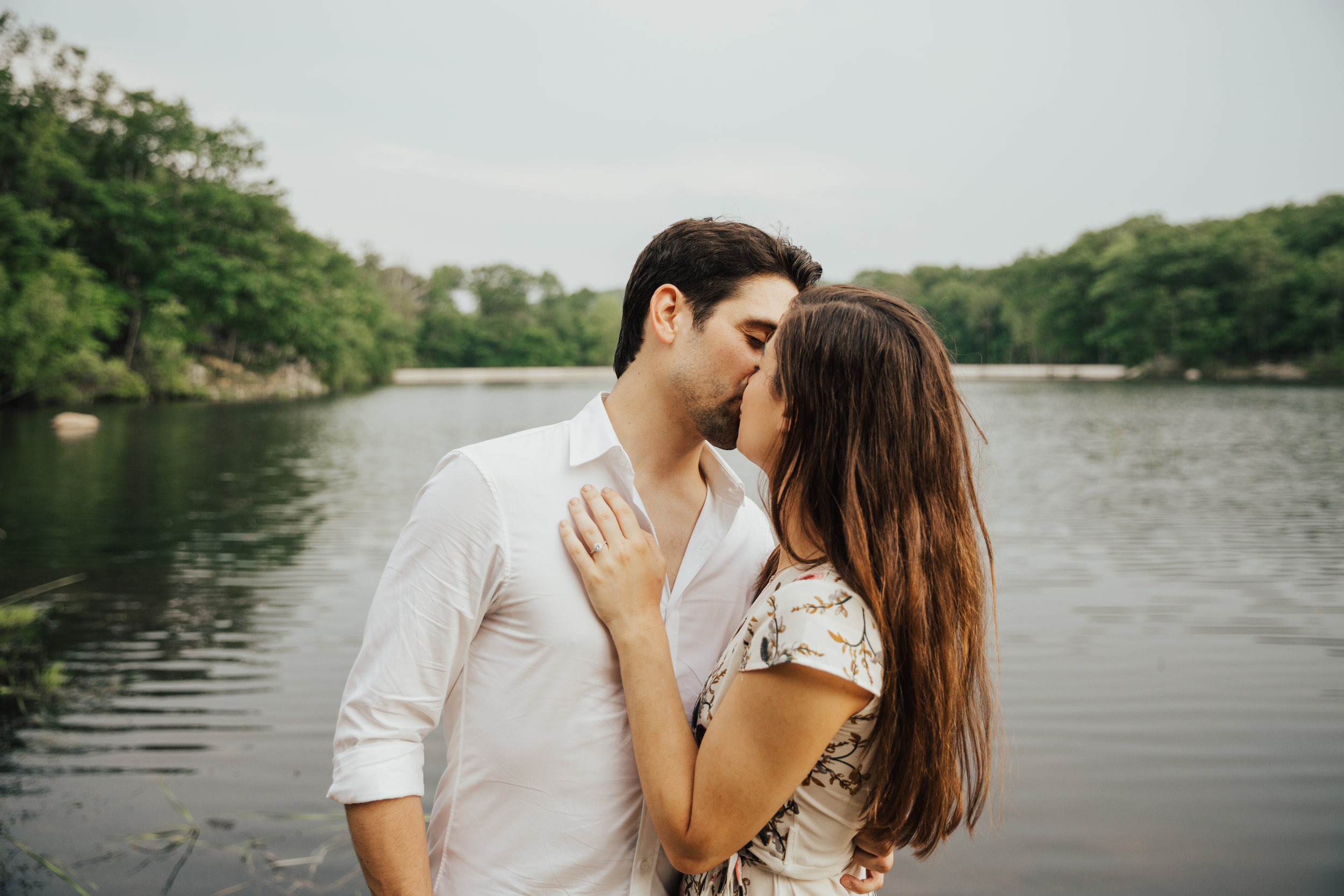 new jersey lake engagement