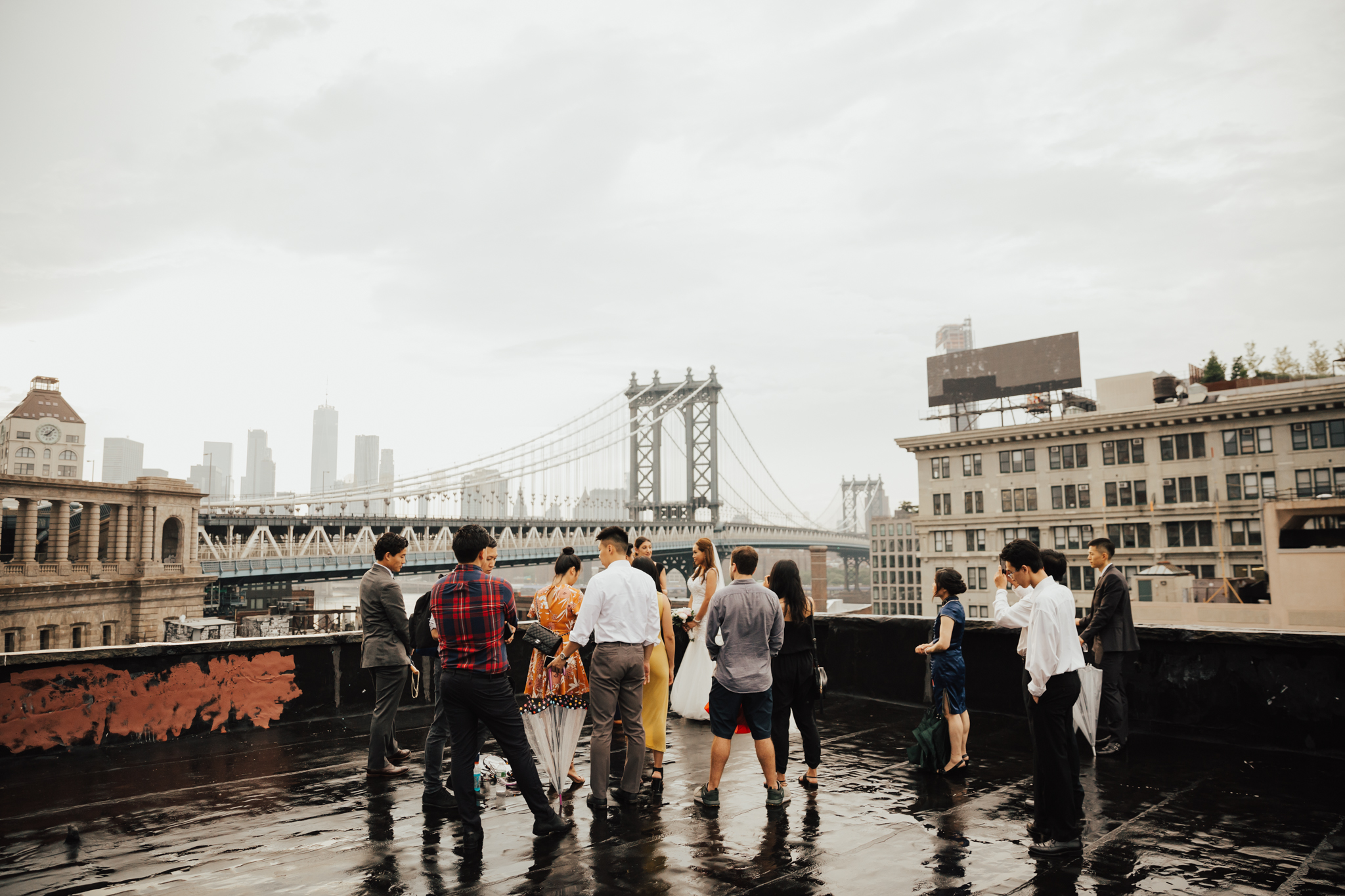brooklyn rooftop intimate elopement