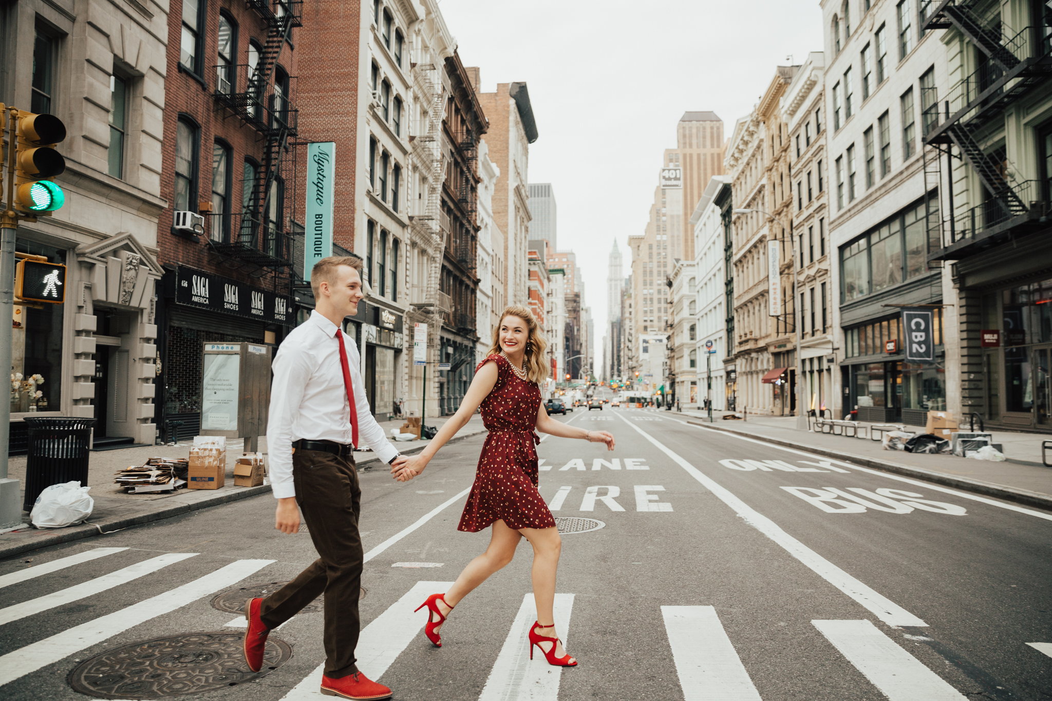 nyc soho engagement shoot