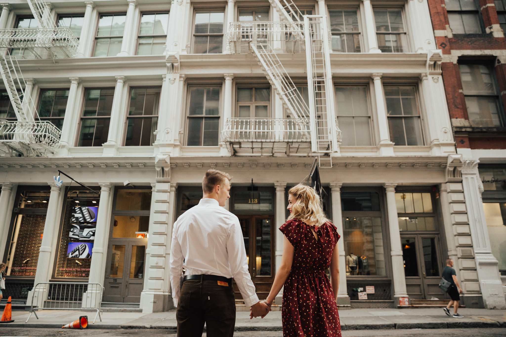sweet and fun soho engagement session