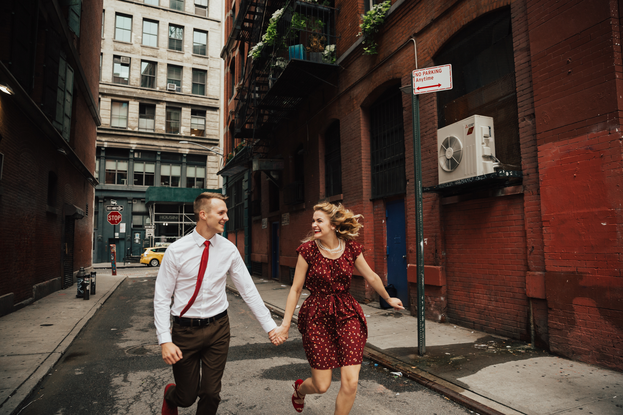 fun candid nyc engagement