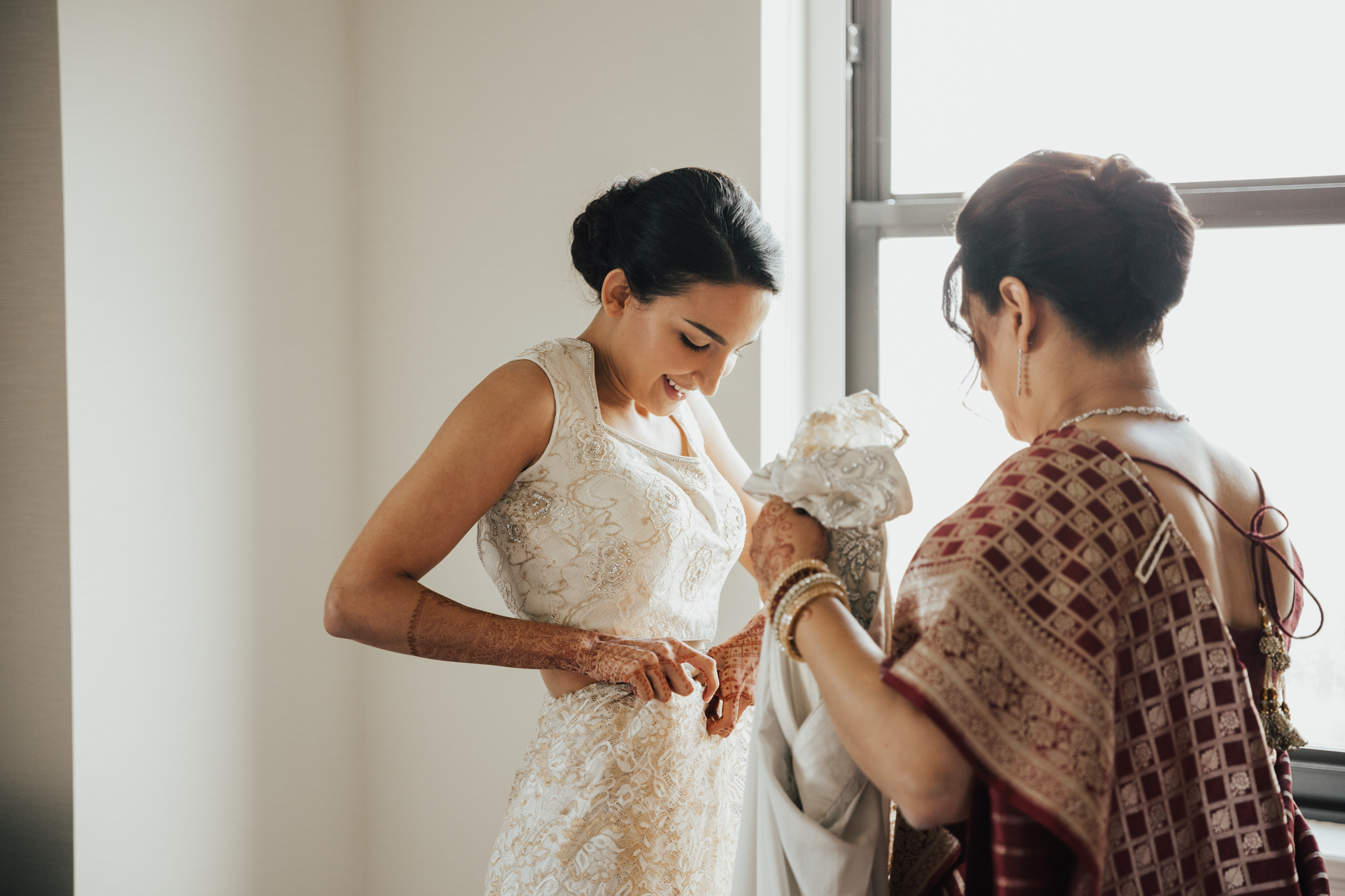 traditional indian wedding getting ready
