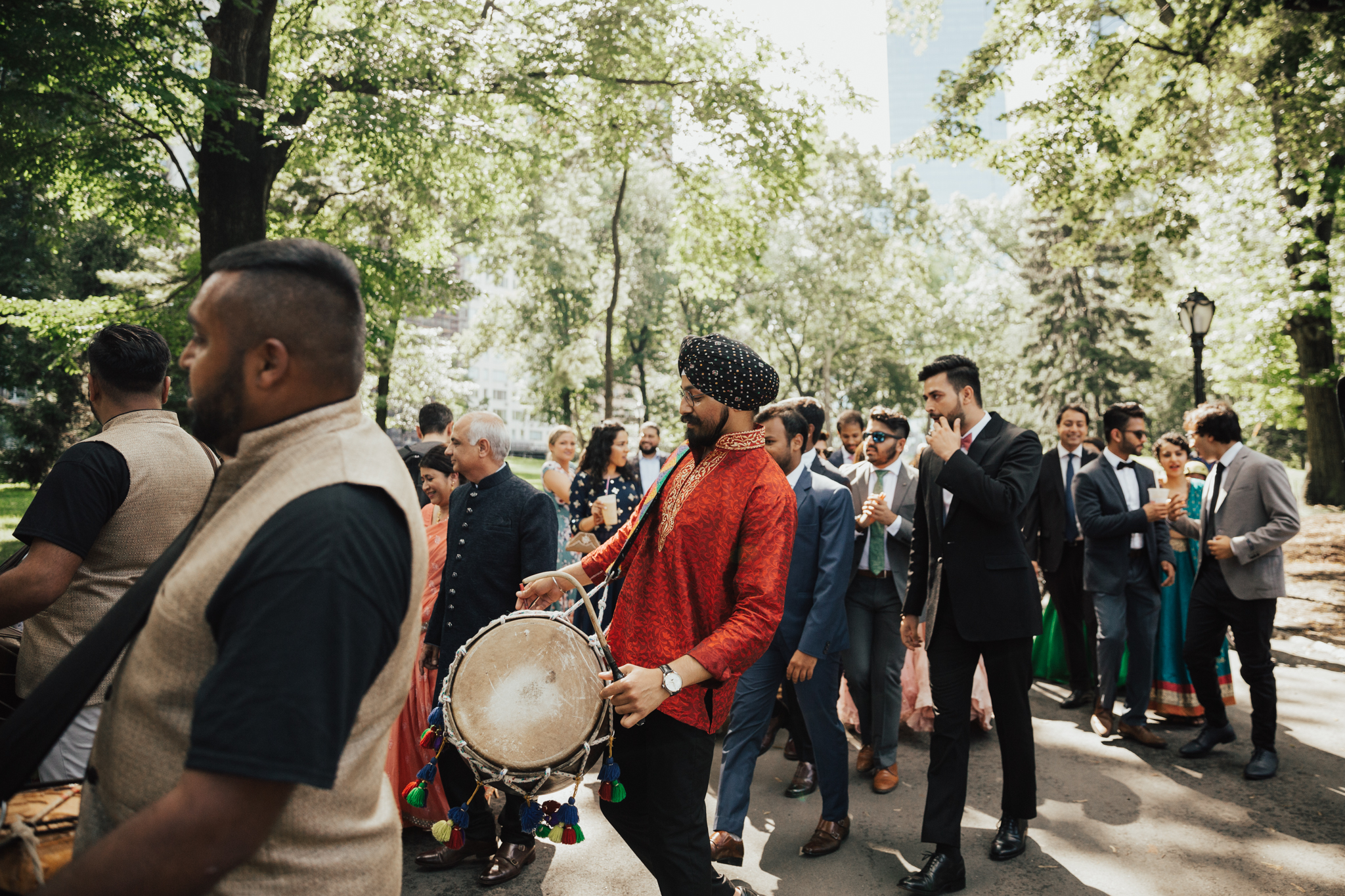 indian baraat nyc central park