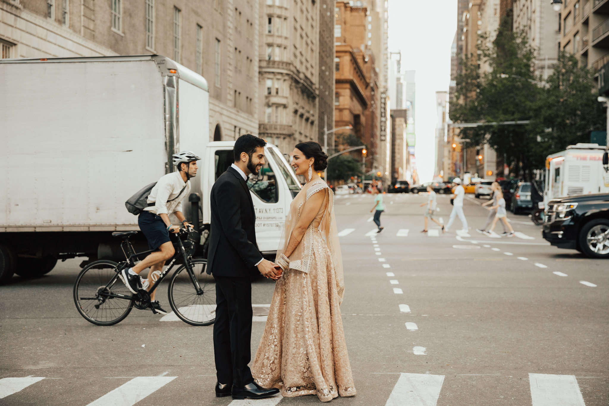 beautiful cultural indian wedding nyc