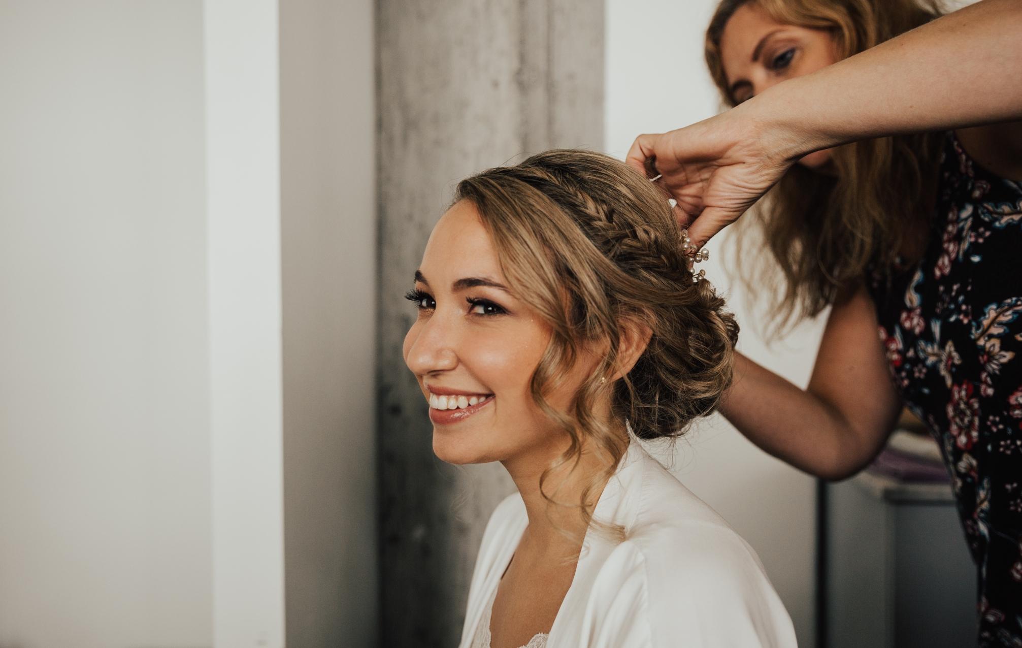 romantic bridal hair