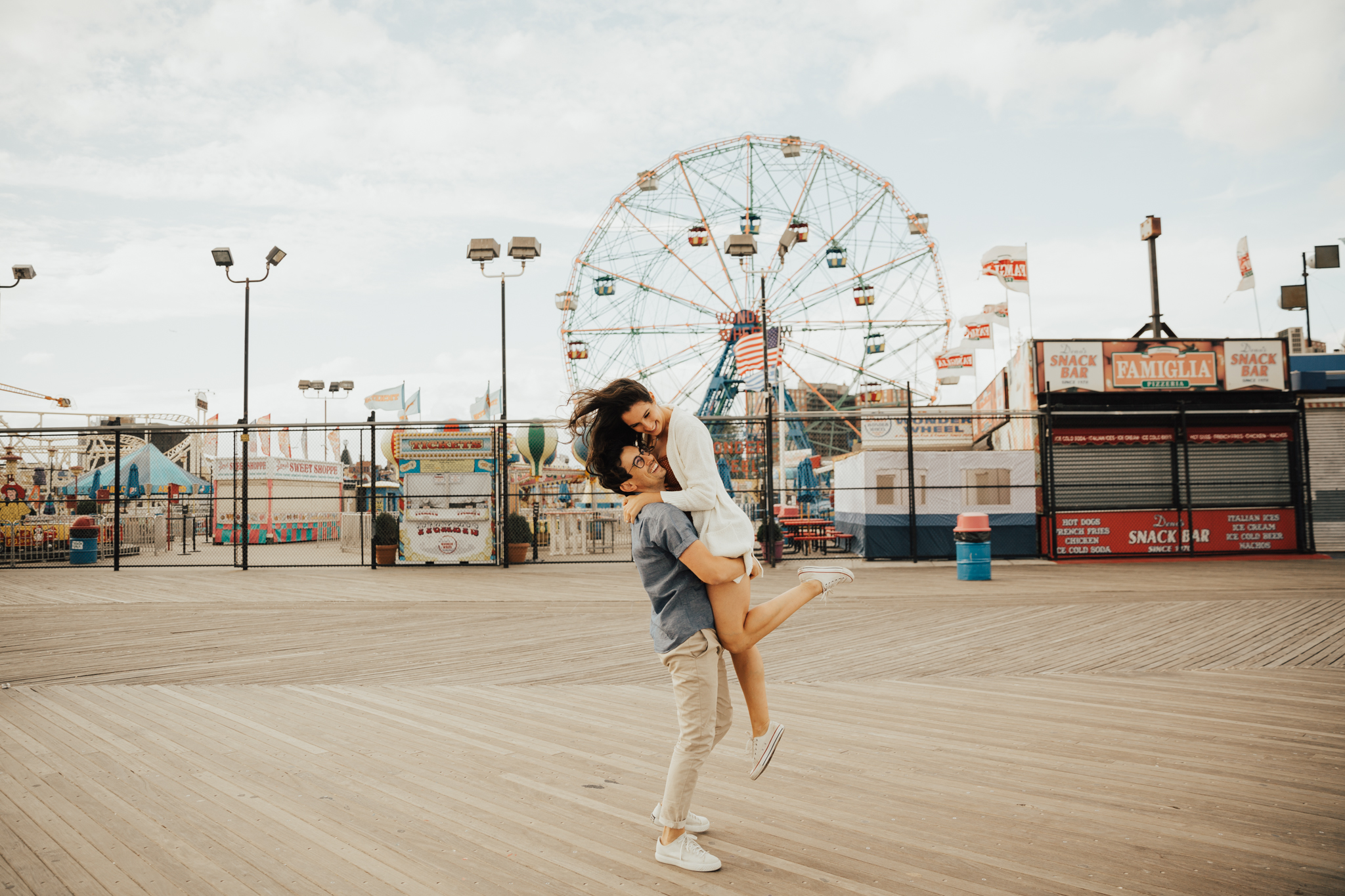 fun nyc engagement session