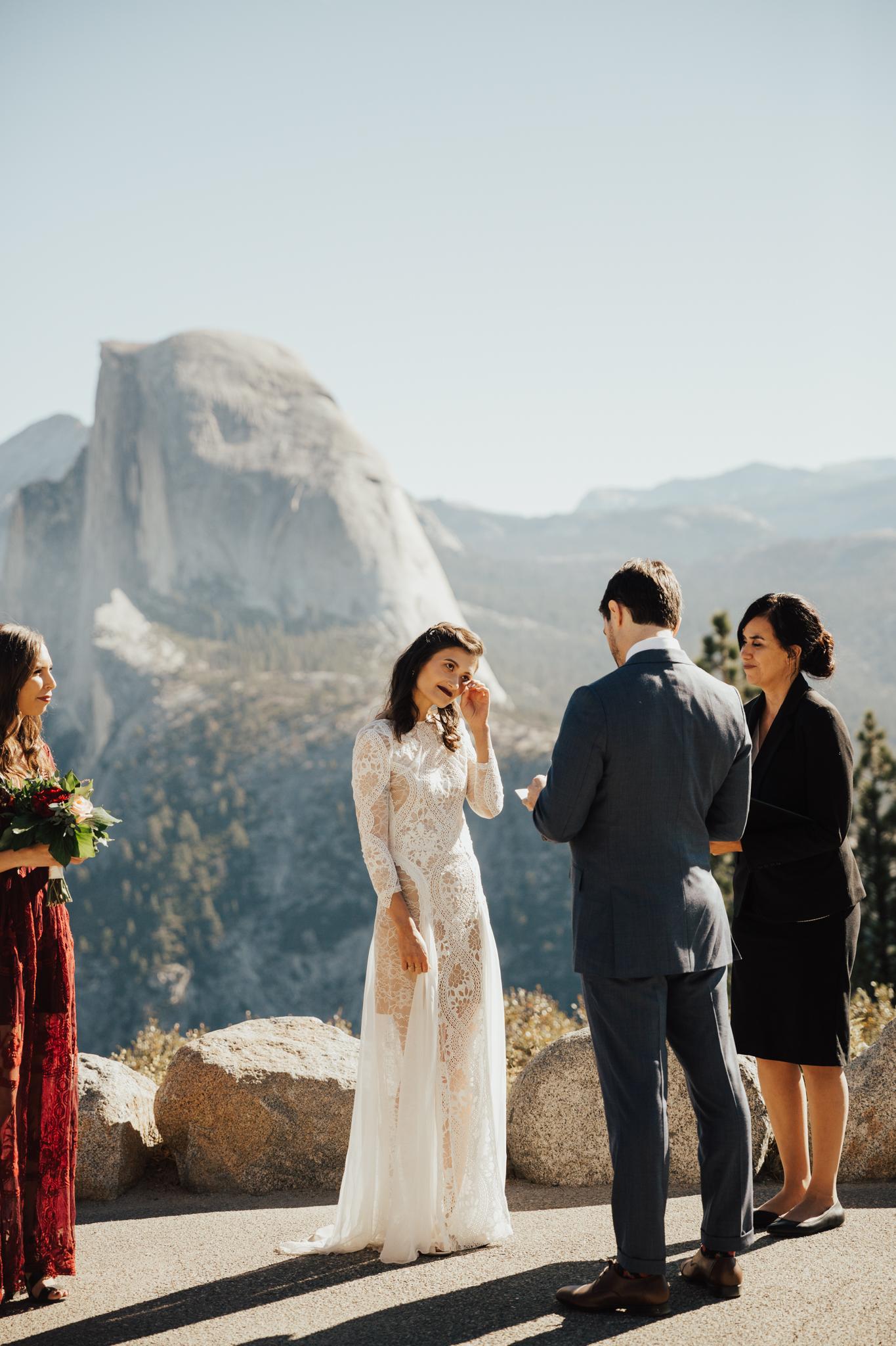 emotional intimate california wedding