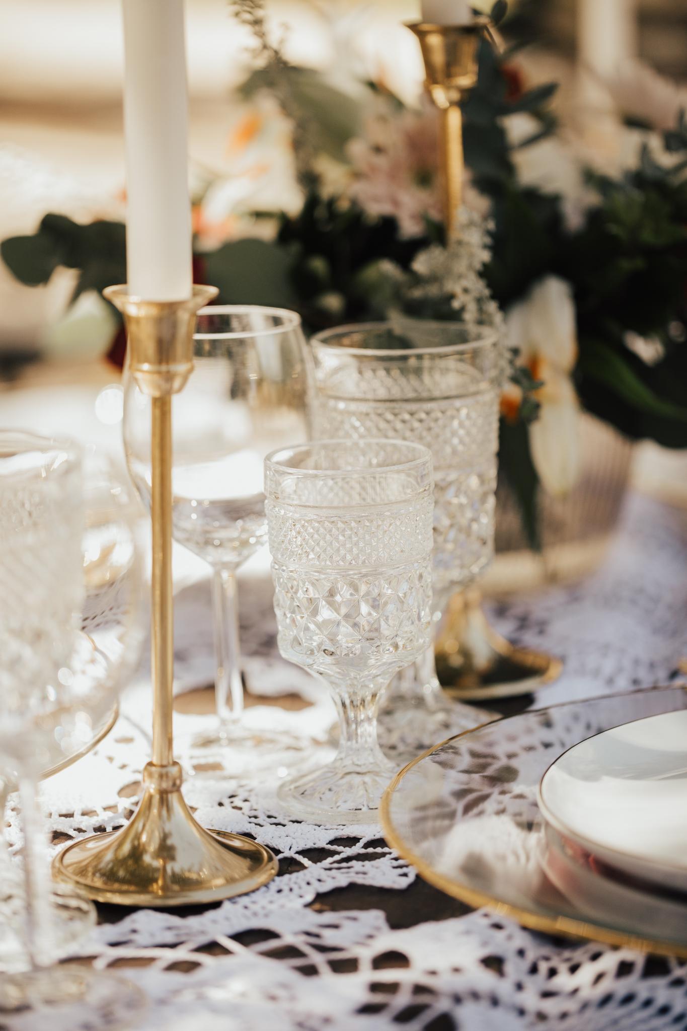 romantic vintage boho wedding decor