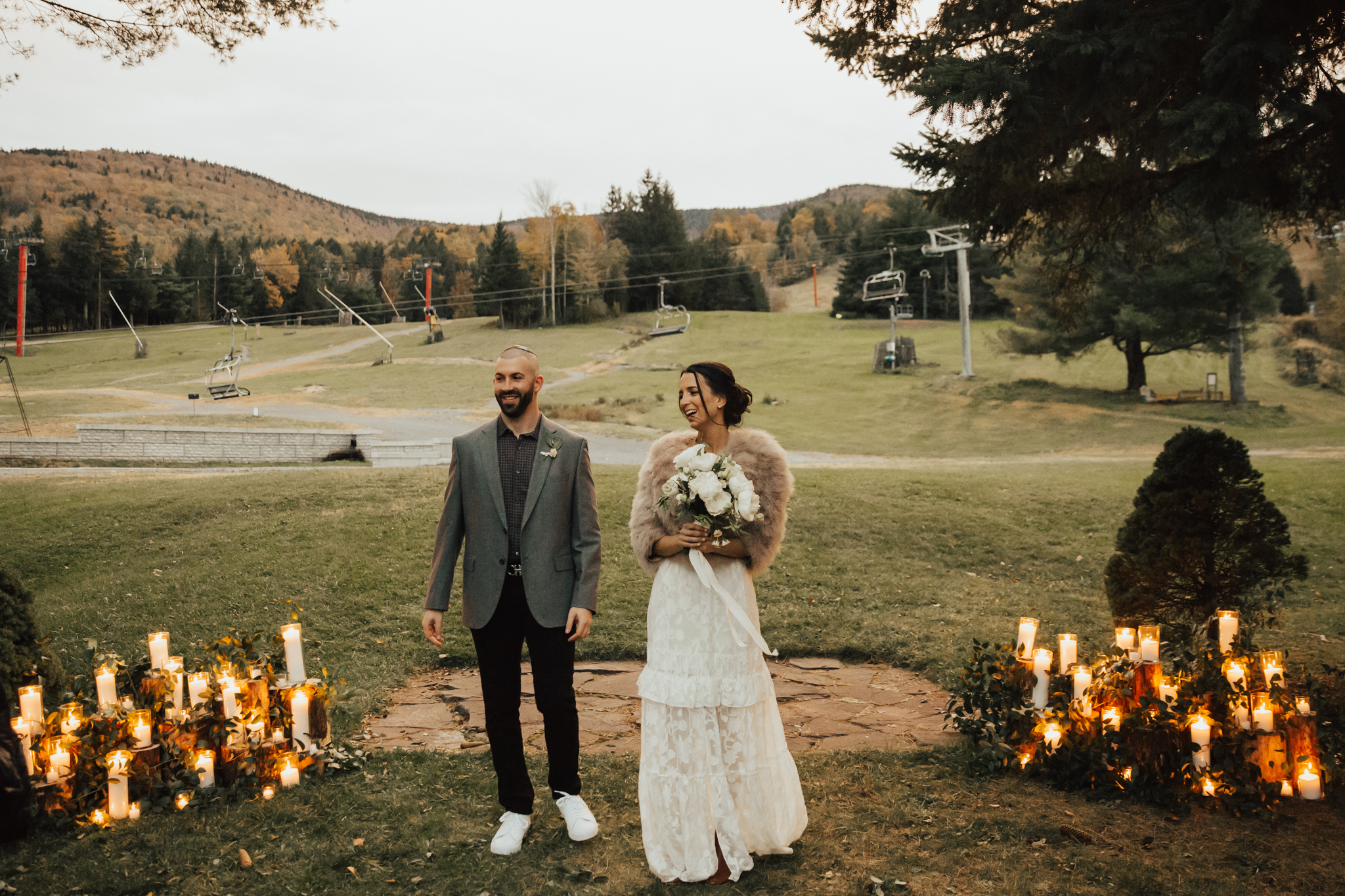 Beautiful outdoor fall wedding
