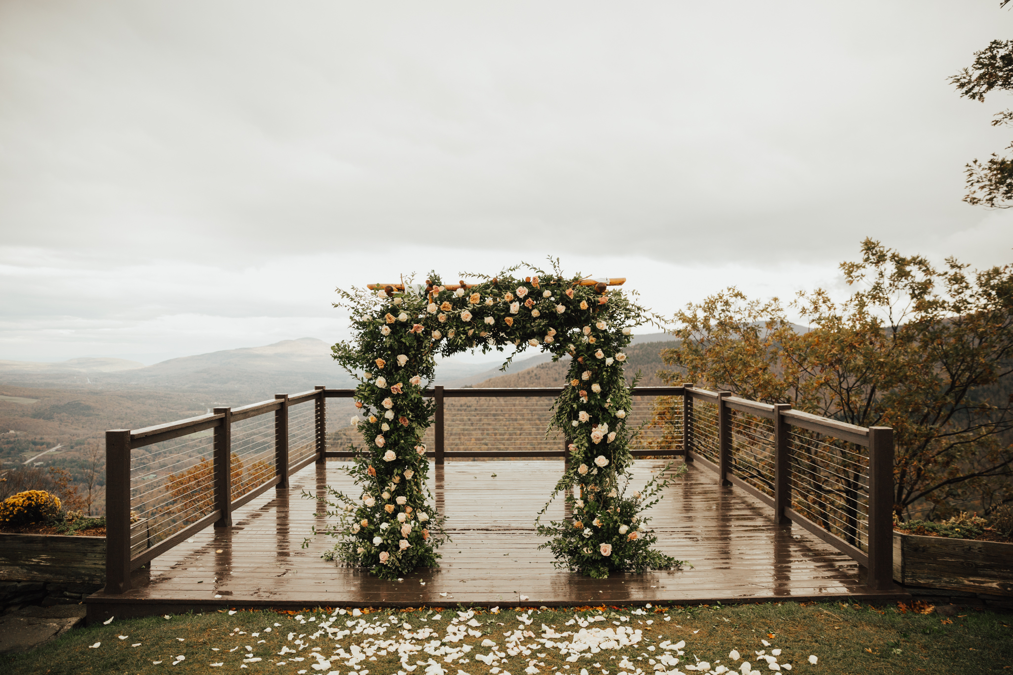 romantic fall chuppah