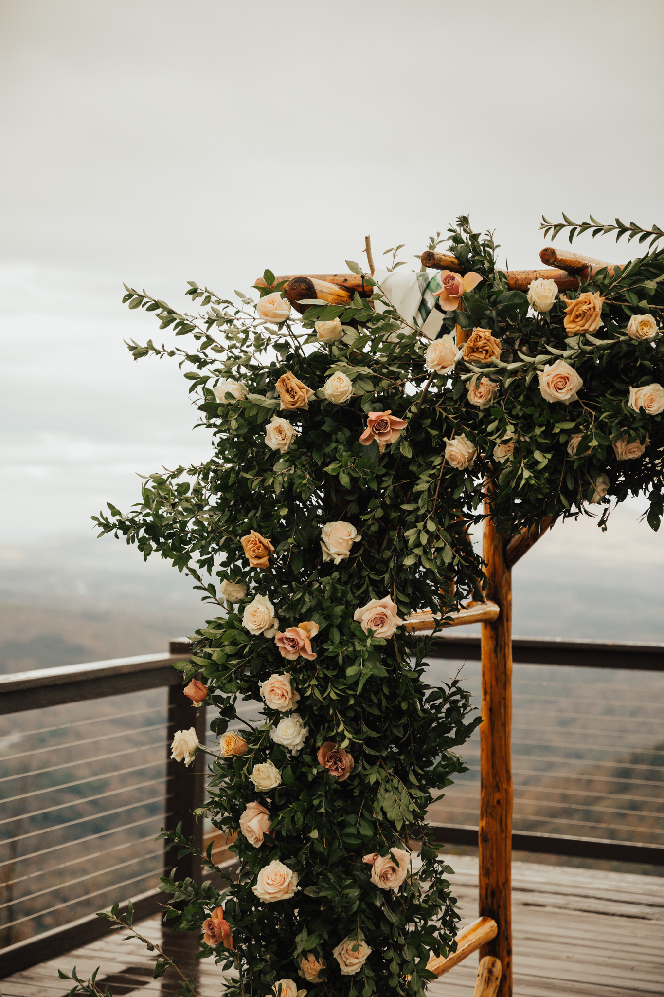 greenery birchwood chuppah