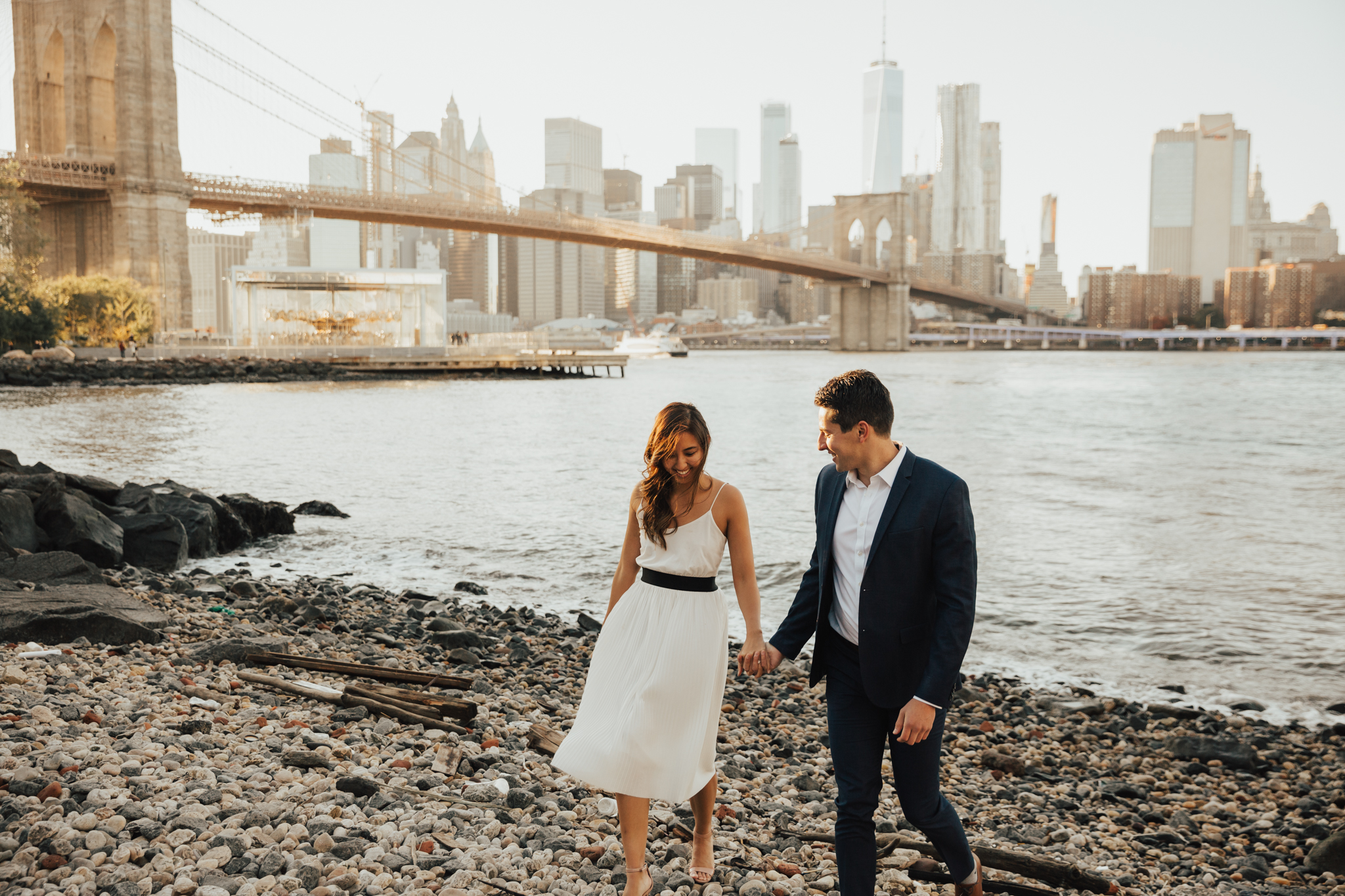 brooklyn dumbo engagement photos