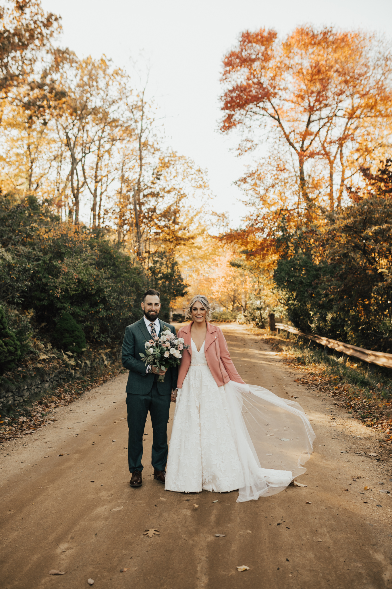 outdoor autumn wedding new york