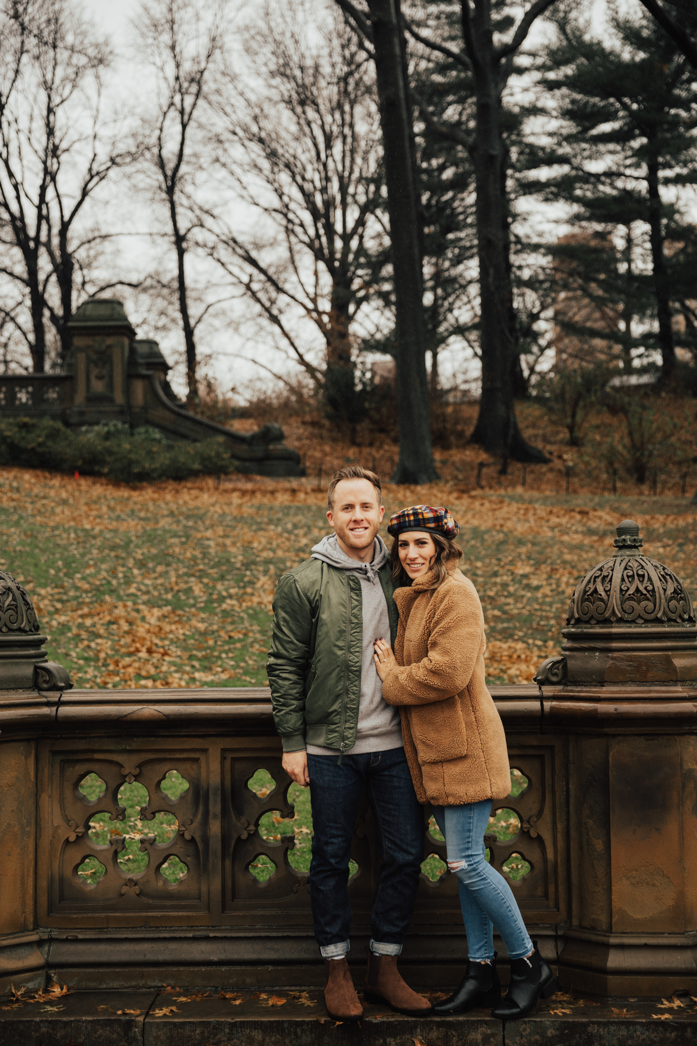 winter engagement shoot nyc