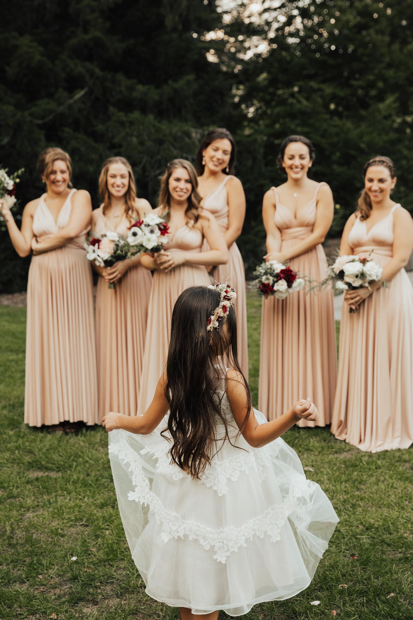 boho flower girl wedding