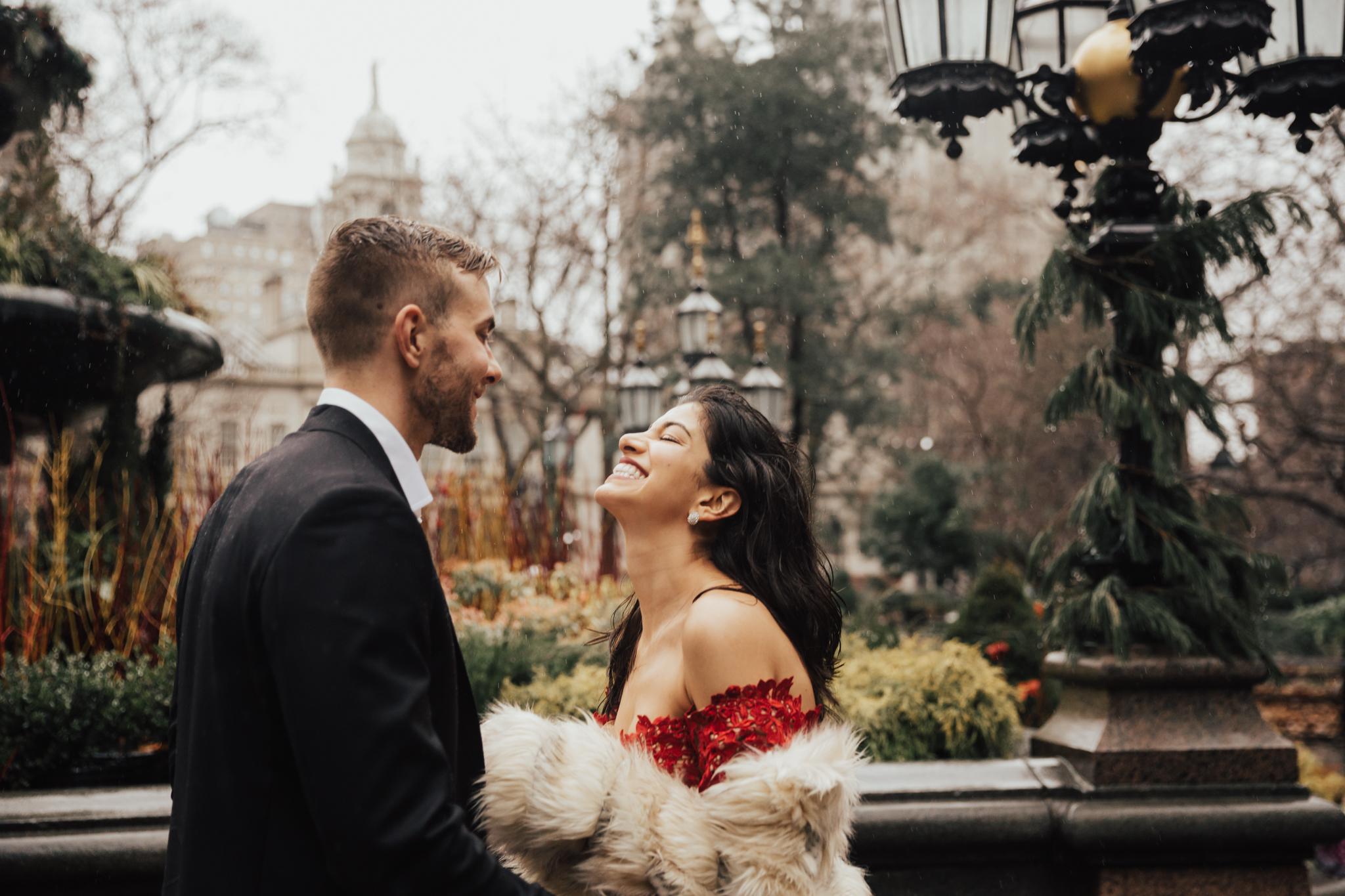 nyc rainy day elopement