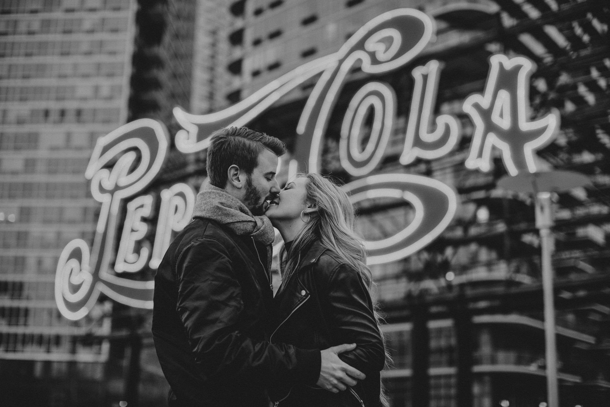 romantic black and white engagement photos